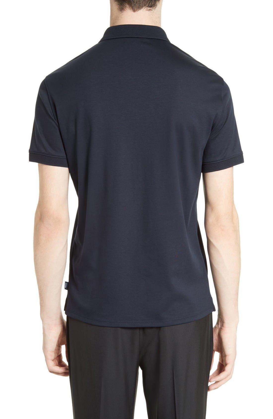 Alternate Image 2  - Armani Collezioni Cotton Interlock Polo