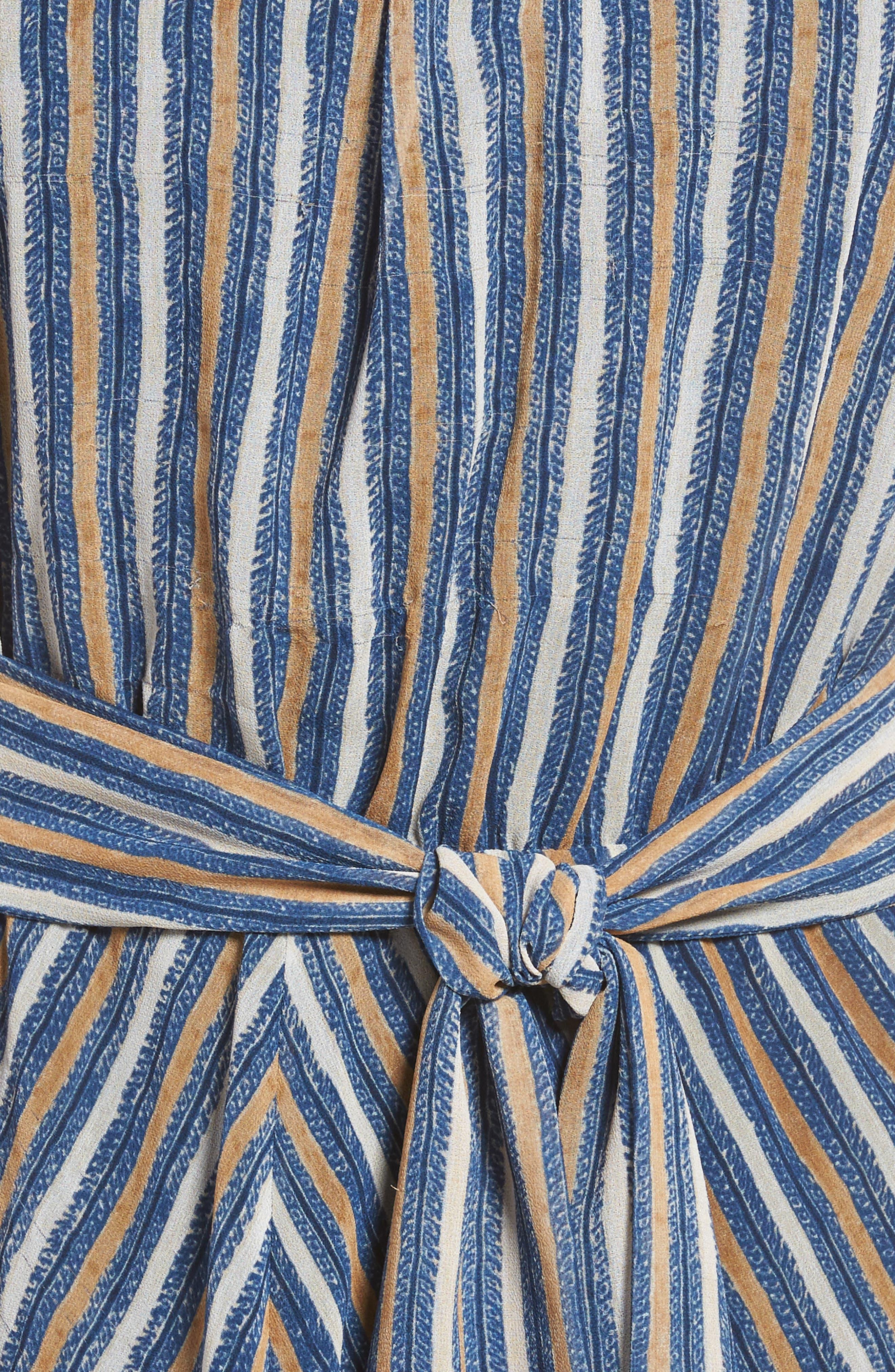 Ouzo Crazy Maxi Dress,                             Alternate thumbnail 5, color,                             Ocean Deep