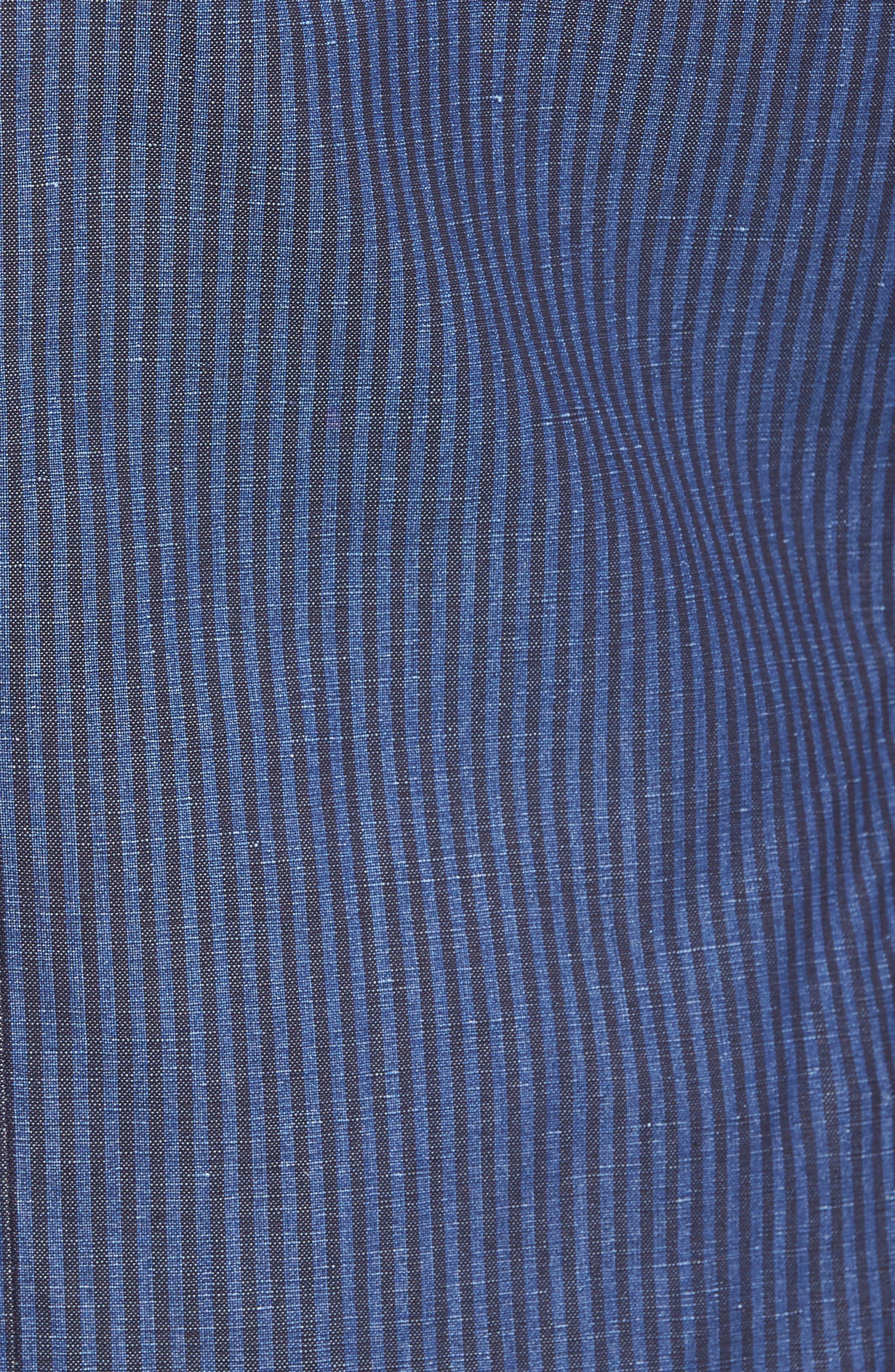 Alternate Image 5  - Kroon Bono 2 Classic Fit Stripe Cotton & Linen Sport Coat