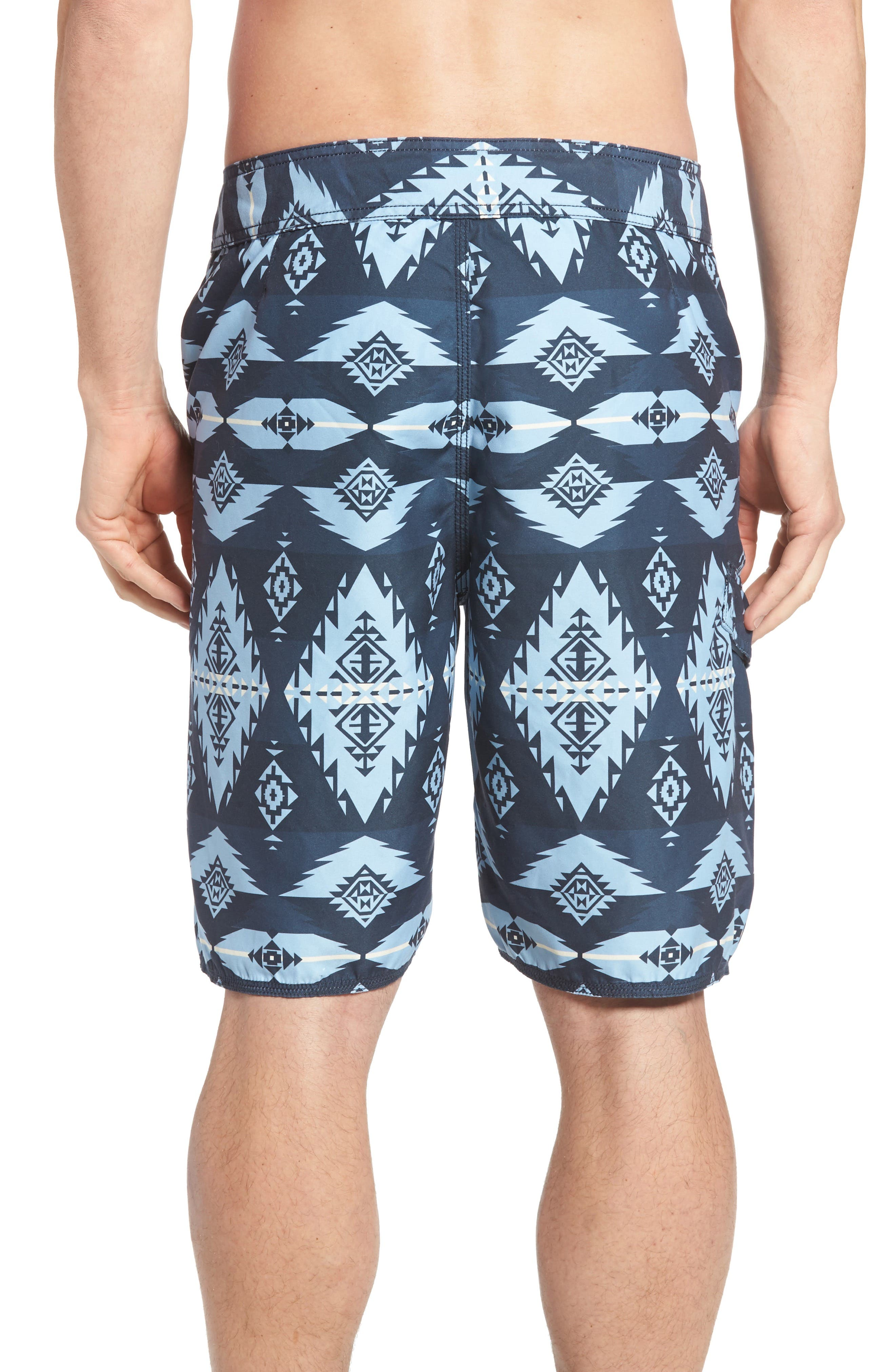 Alternate Image 2  - True Grit Blue River Board Shorts