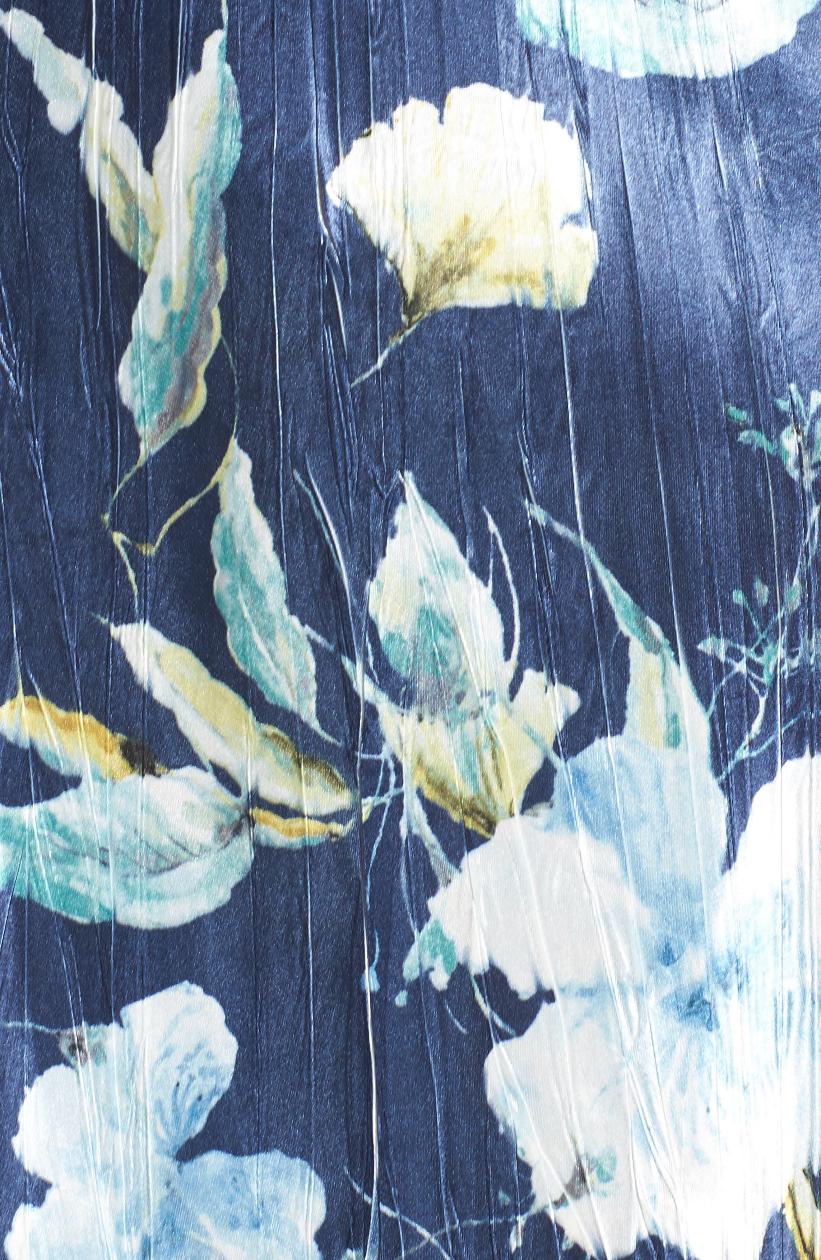 A-Line Dress,                             Alternate thumbnail 5, color,                             Sapphire