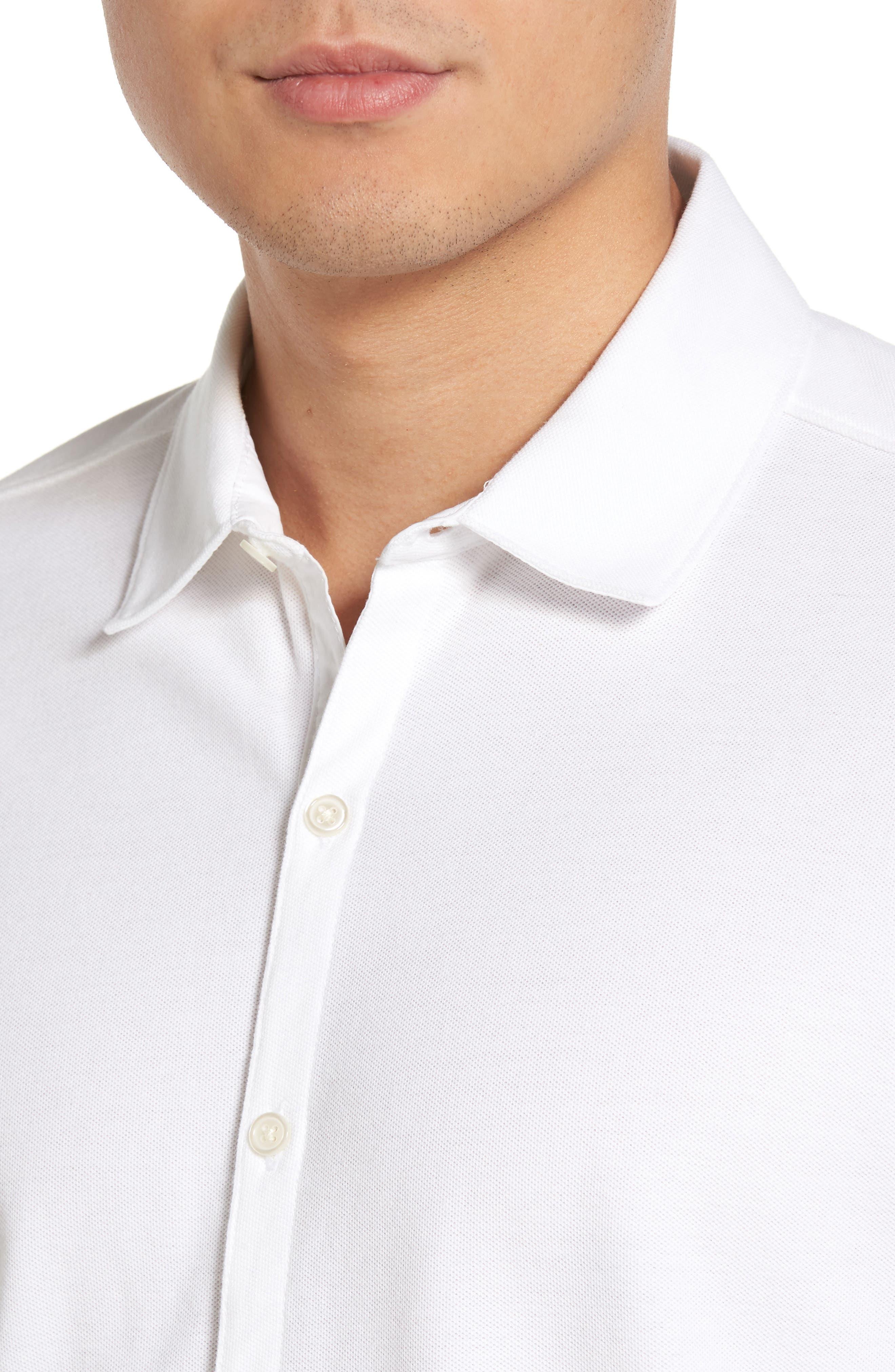 Palmetto Pima Cotton Shirt,                             Alternate thumbnail 4, color,                             White