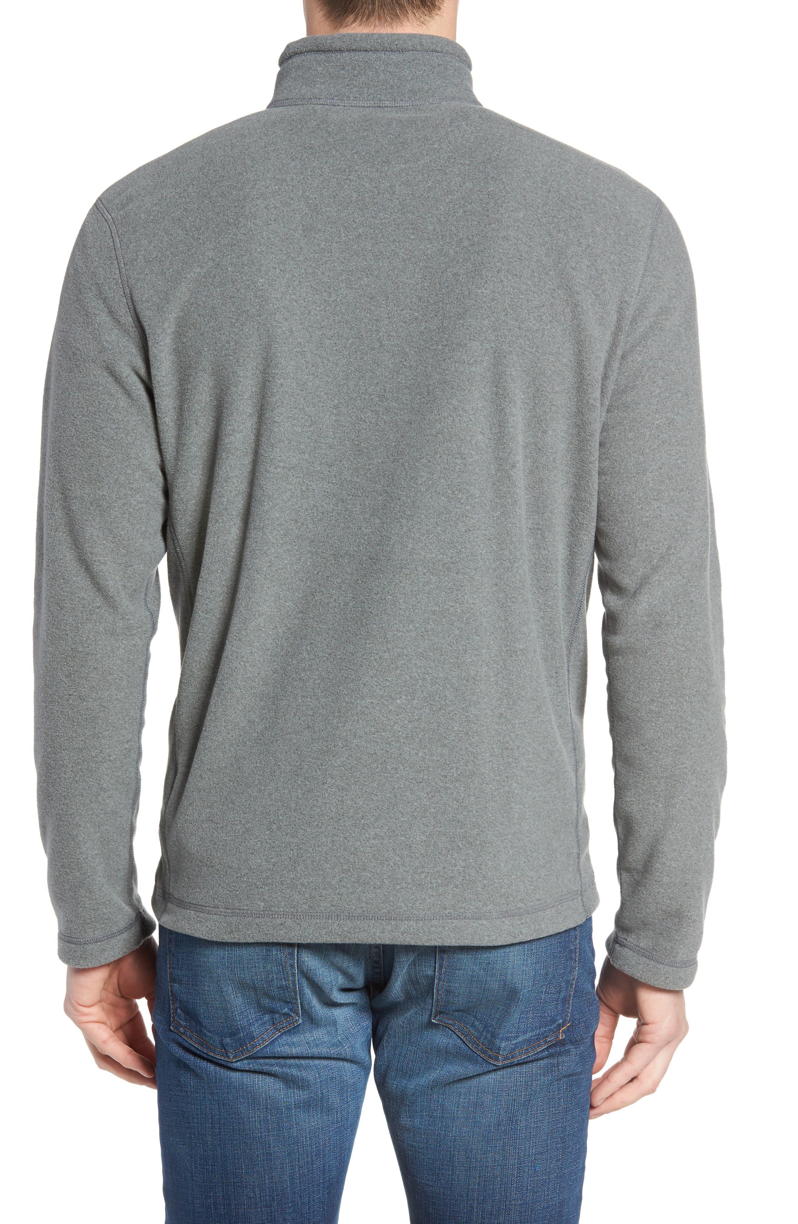 'TKA 100 Glacier' Quarter Zip Fleece Pullover,                             Alternate thumbnail 2, color,                             Tnf Medium Grey Heather
