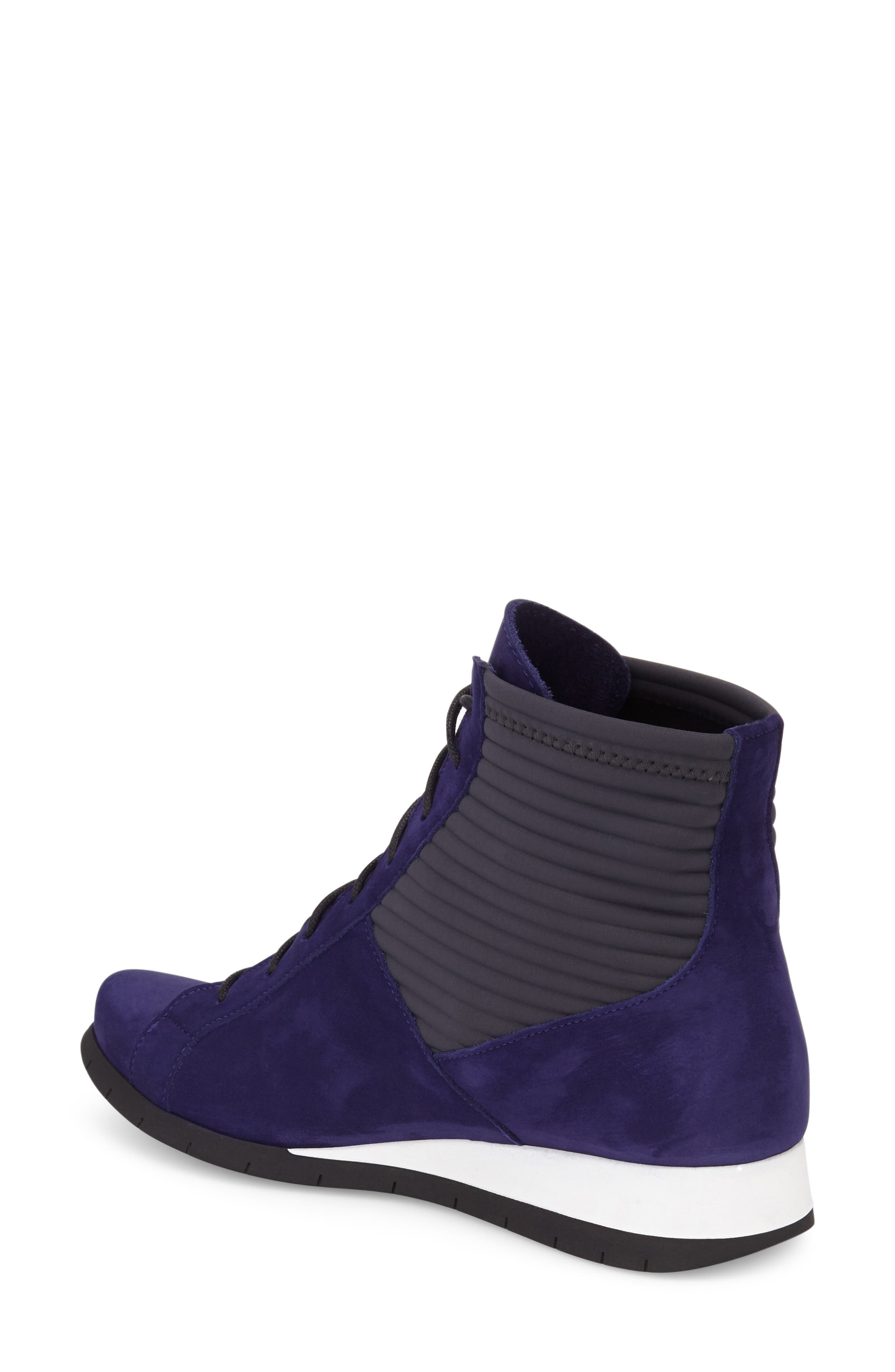 'Situ' Wedge High Top Sneaker,                             Alternate thumbnail 2, color,                             Encre/ Baltik Leather