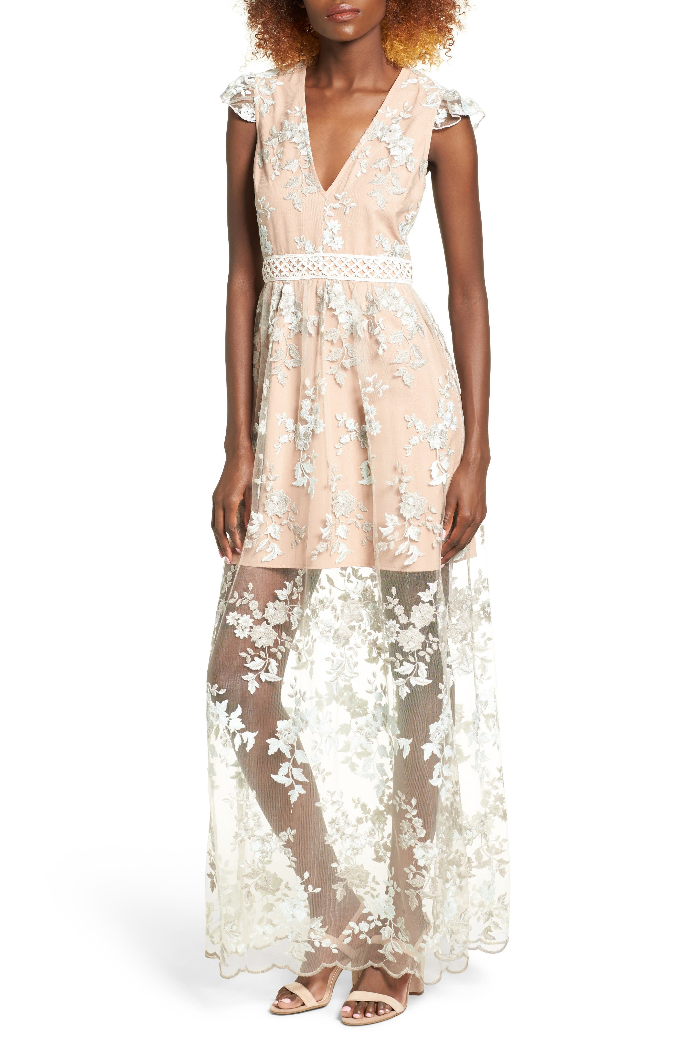 Alternate Image 1 Selected - WAYF Oakfield Embroidered Dress