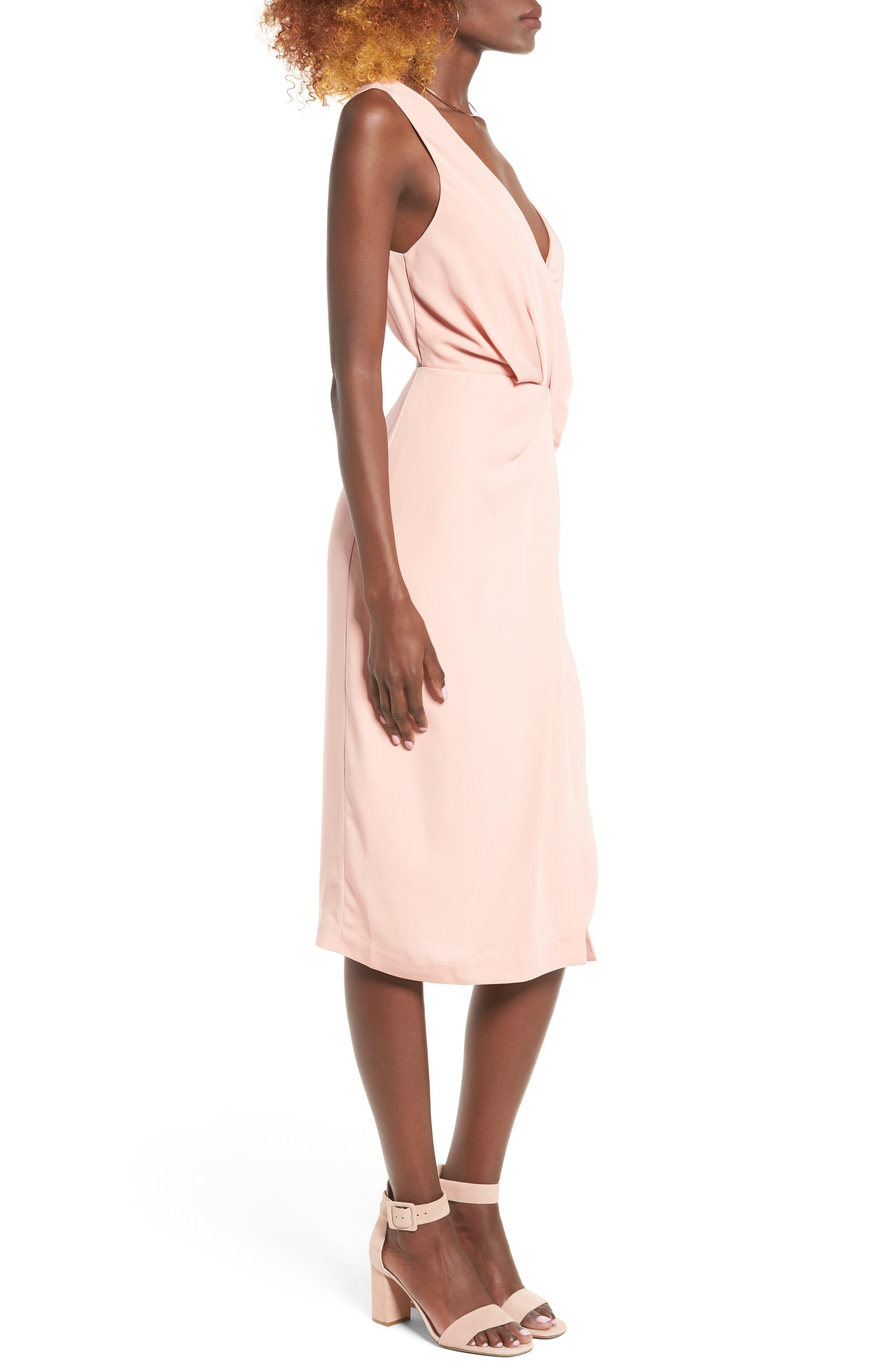 Alternate Image 4  - Keepsake the Label Without You Asymmetrical Midi Dress