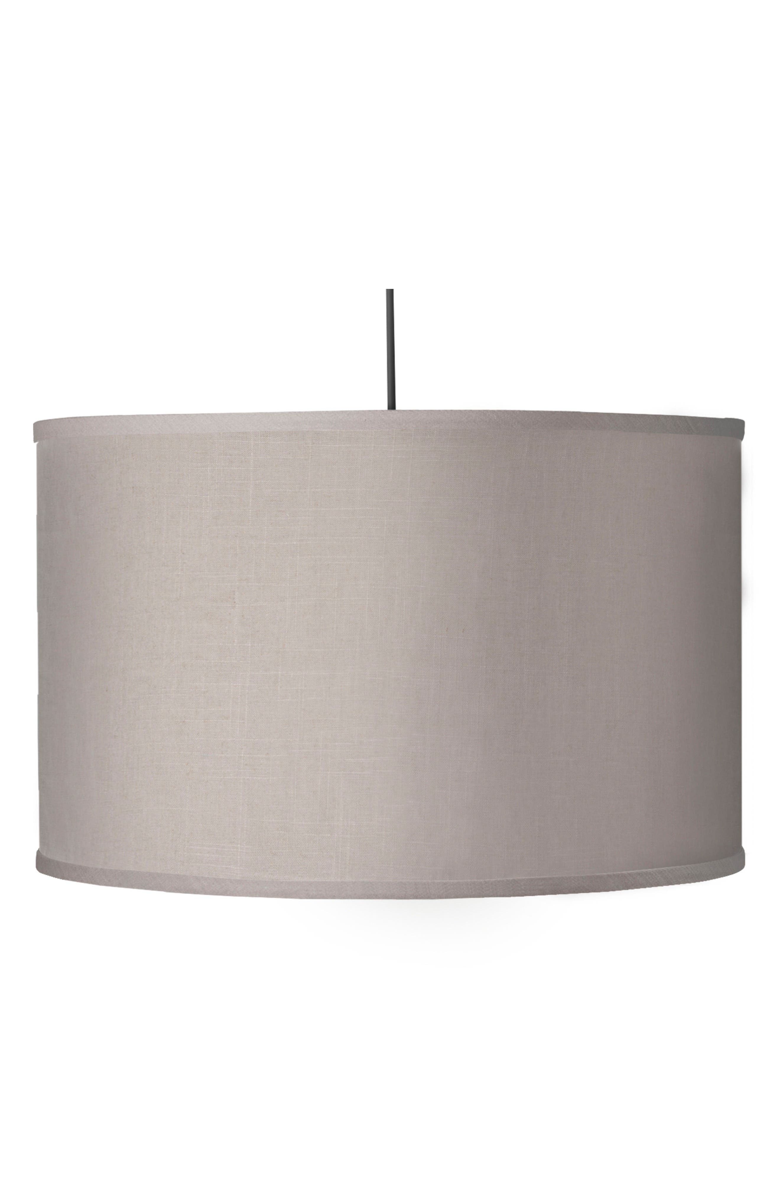 Large Cylinder Light,                             Main thumbnail 1, color,                             Solid Linen