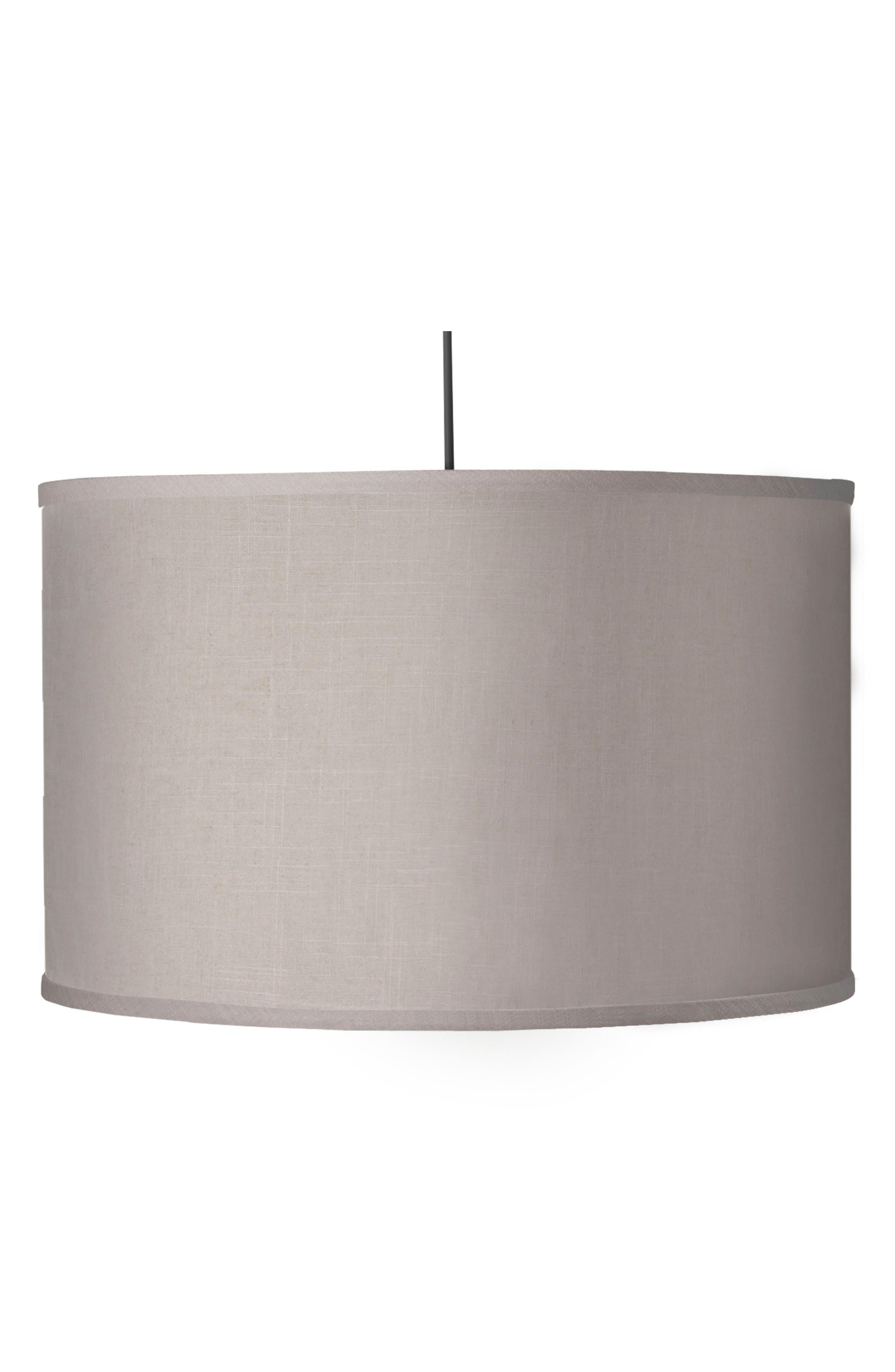 Large Cylinder Light,                         Main,                         color, Solid Linen