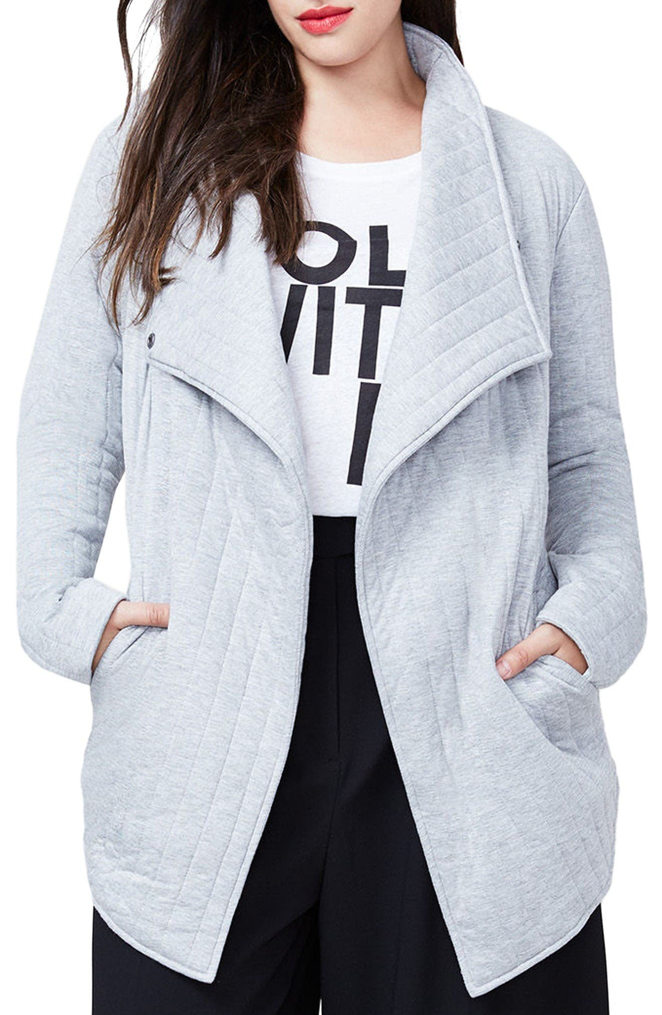 RACHEL Rachel Roy Quilted Jacket (Plus Size)