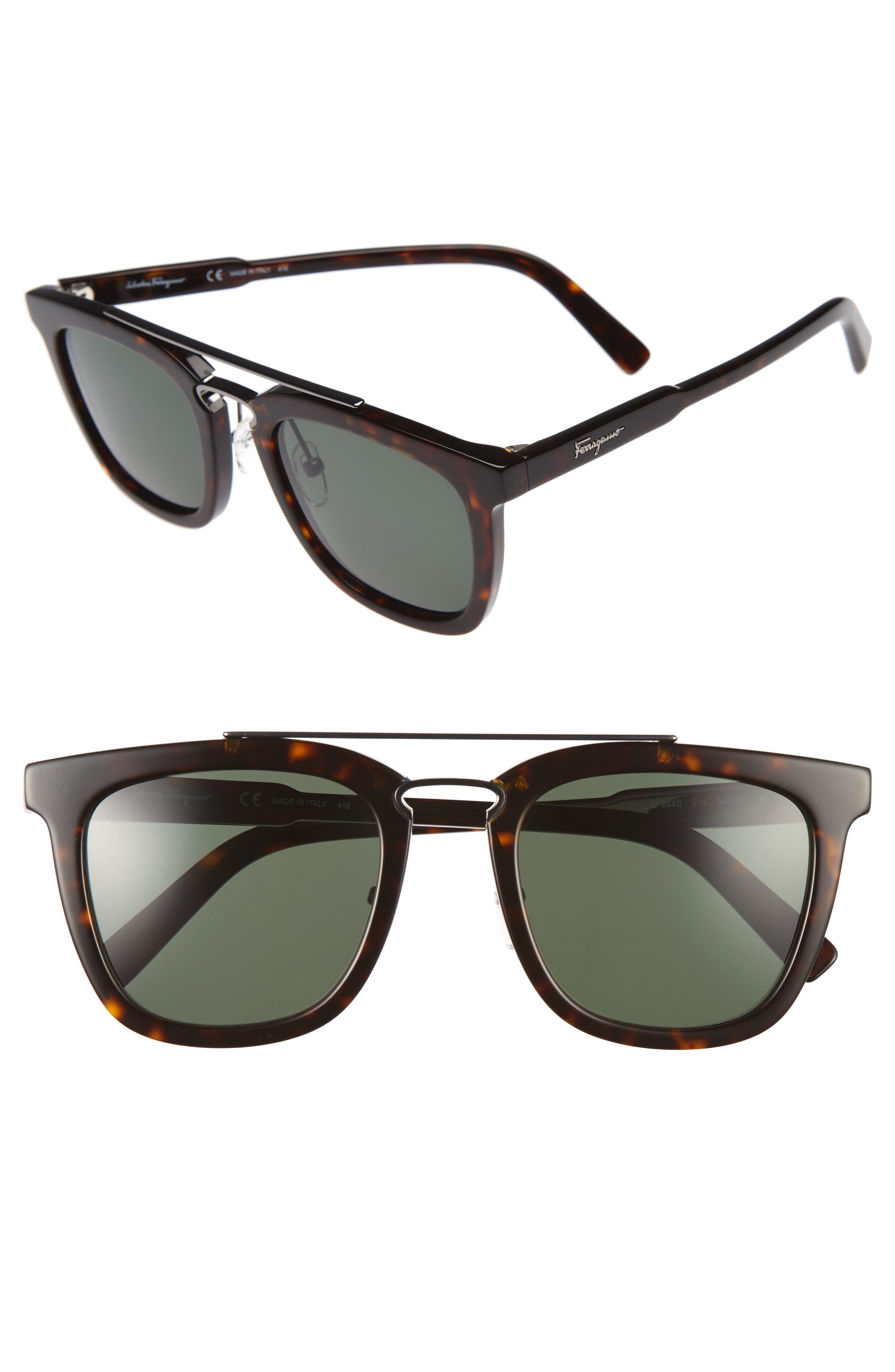 52mm Sunglasses,                             Main thumbnail 1, color,                             Tortoise