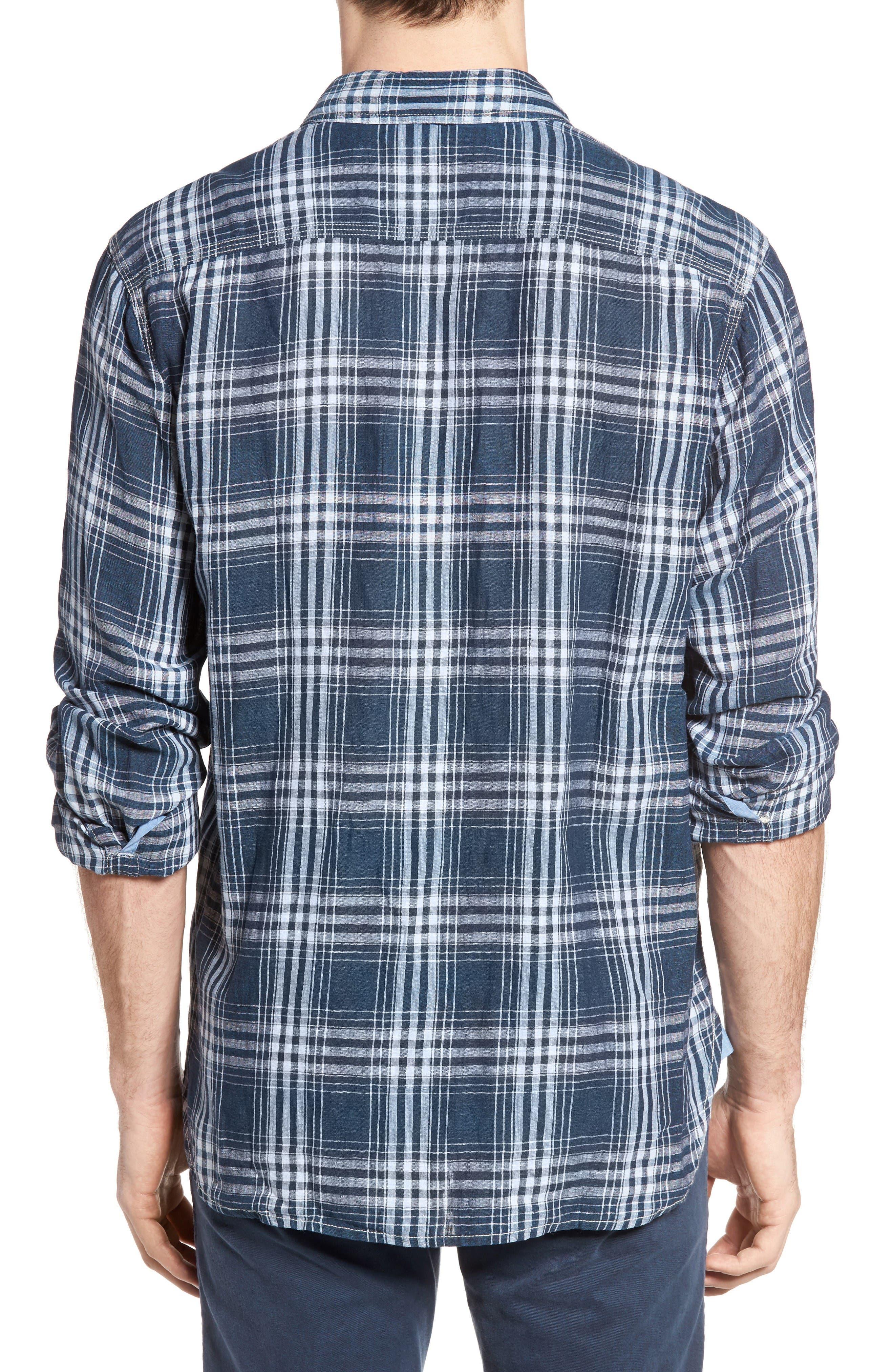 Alternate Image 2  - True Grit Indigo Plaid Sport Shirt