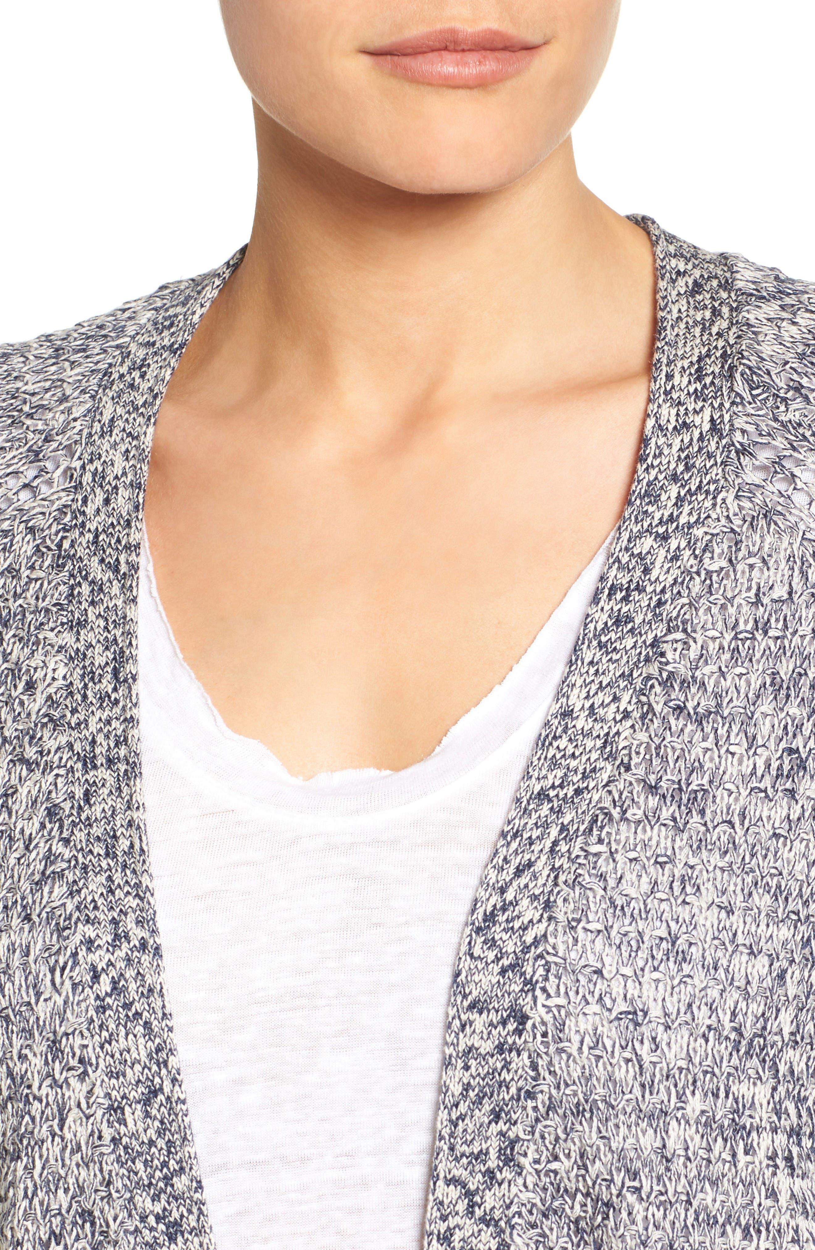 Alternate Image 4  - Caslon® Textured Cardigan (Regular & Petite)