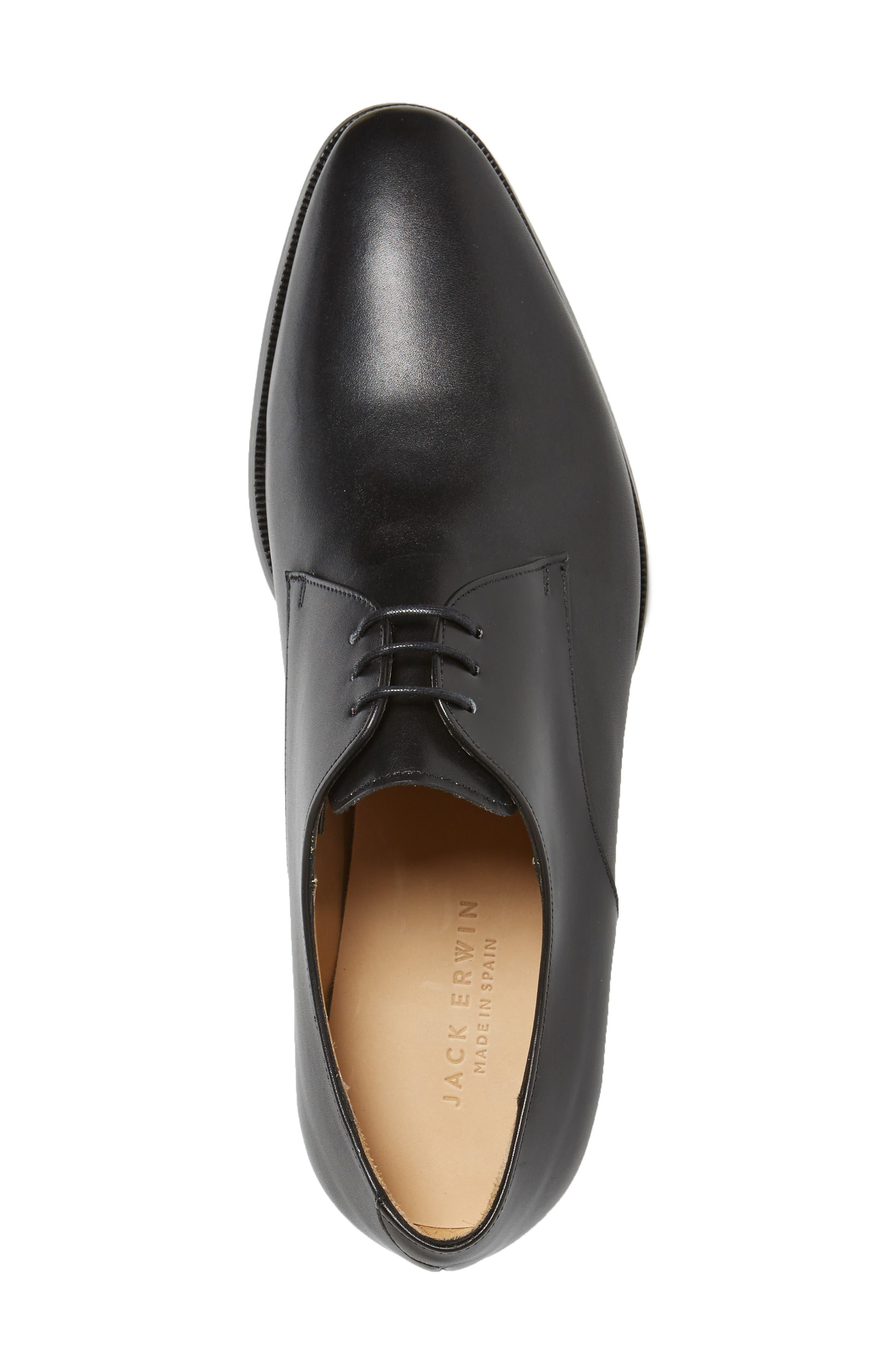 Mitch Plain Toe Derby,                             Alternate thumbnail 3, color,                             Black Leather