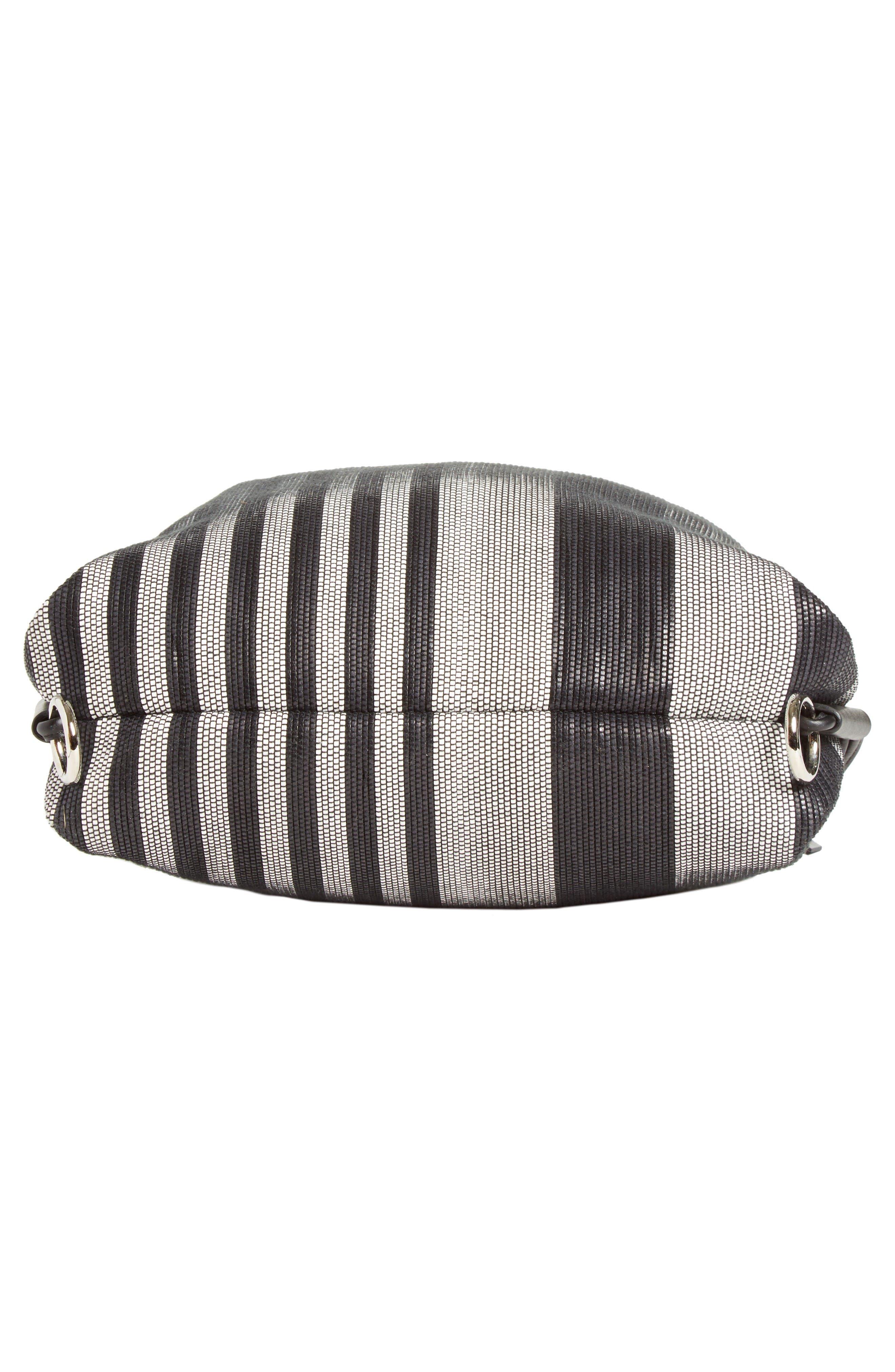 Drawstring Backpack,                             Alternate thumbnail 5, color,                             Black/White