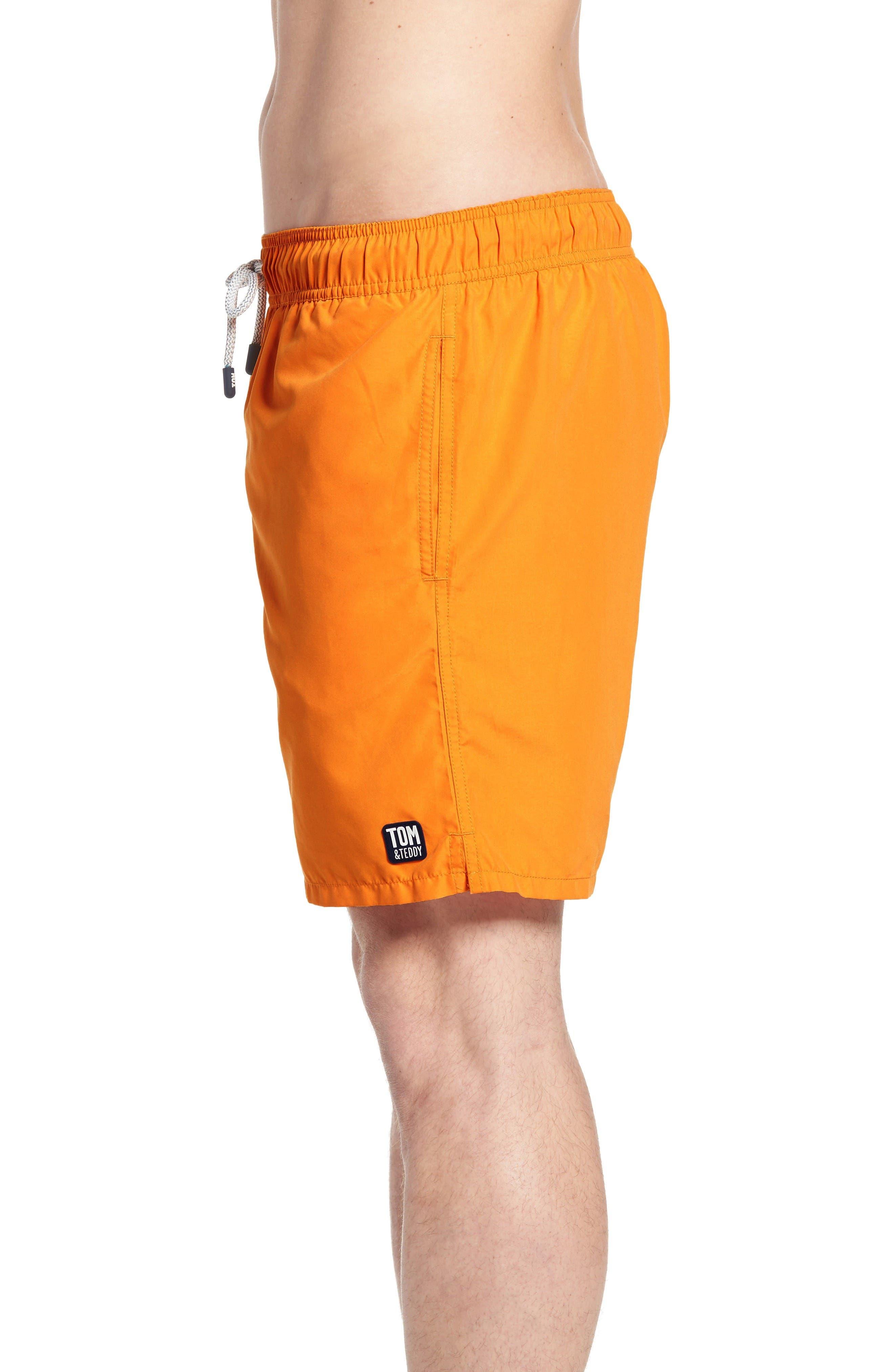 Swim Trunks,                             Alternate thumbnail 3, color,                             Baked Orange