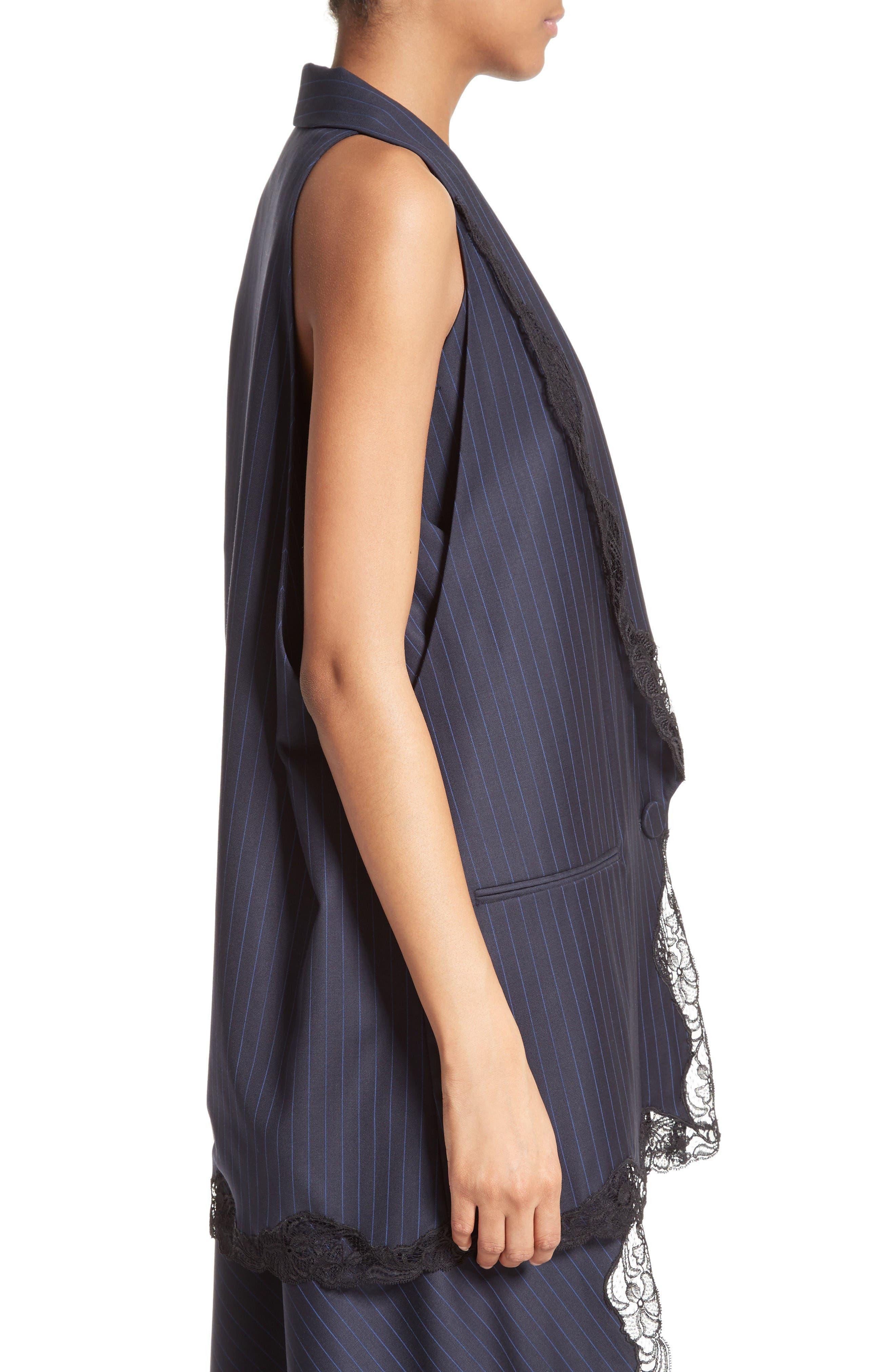 Alternate Image 5  - Alexander Wang Lace Trim Pinstripe Vest