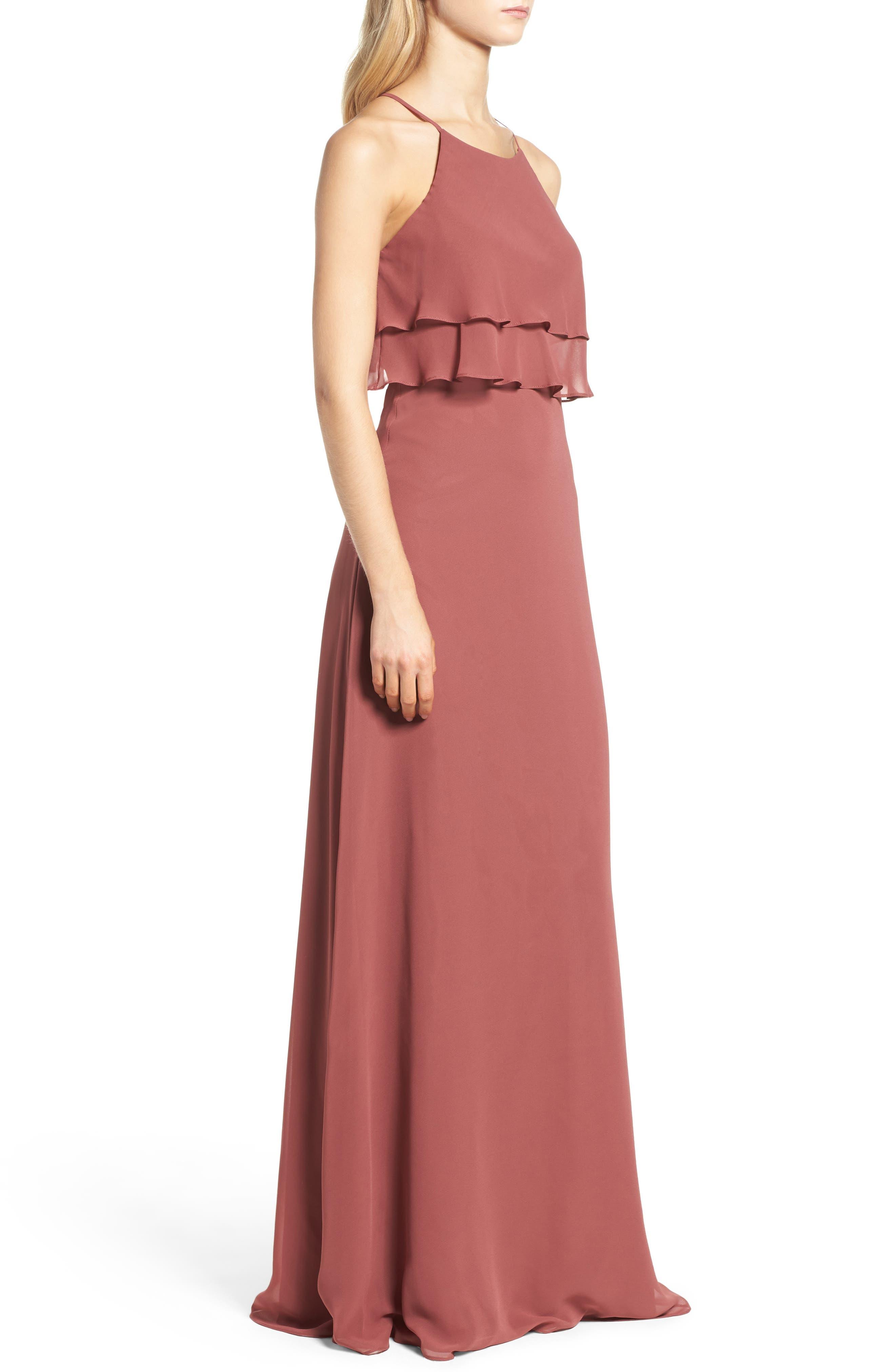 Alternate Image 3  - Jenny Yoo Charlie Ruffle Bodice Gown