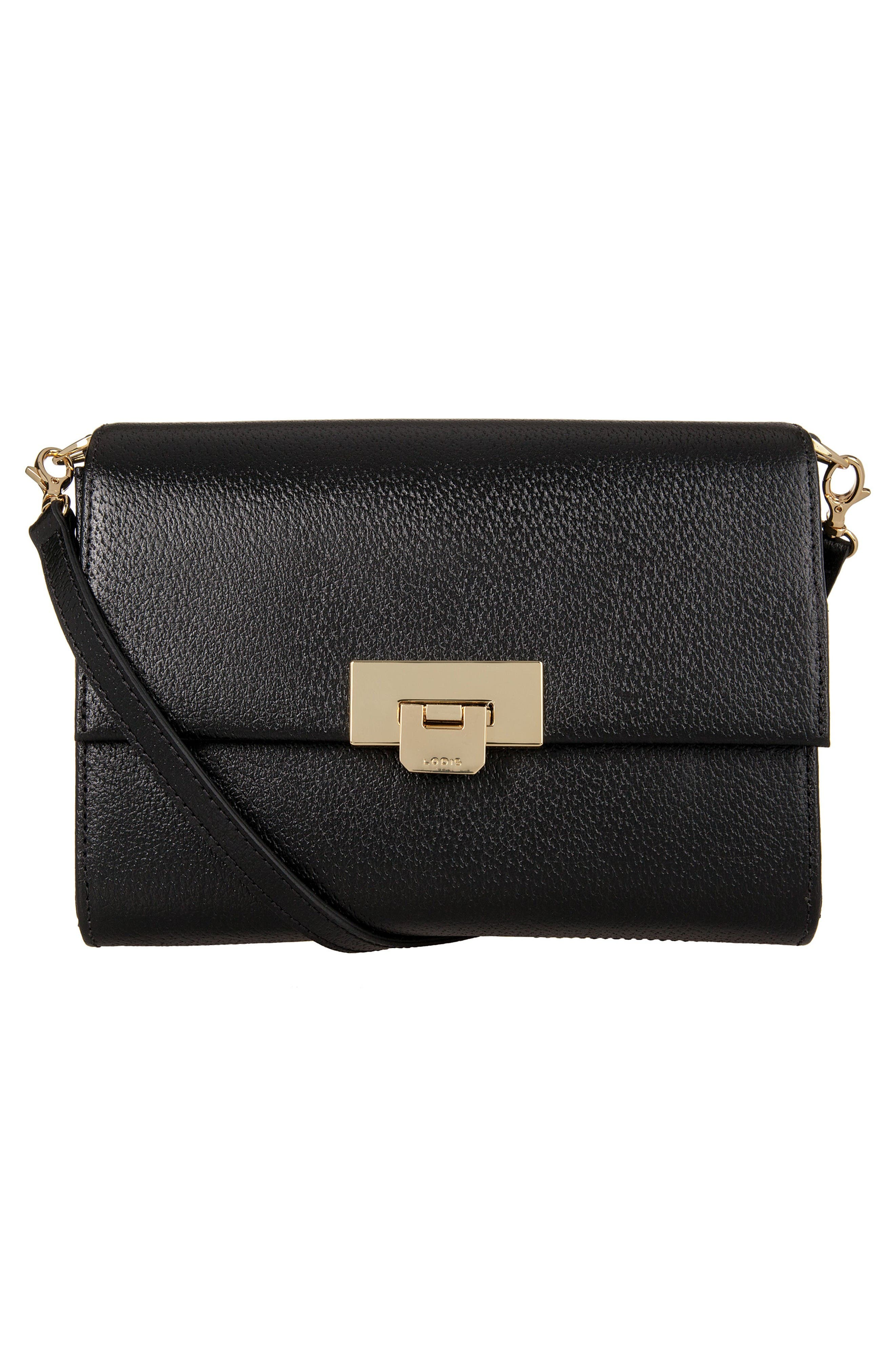 Alternate Image 1 Selected - LODIS Stephanie Under Lock & Key - Small Eden Leather Crossbody Bag