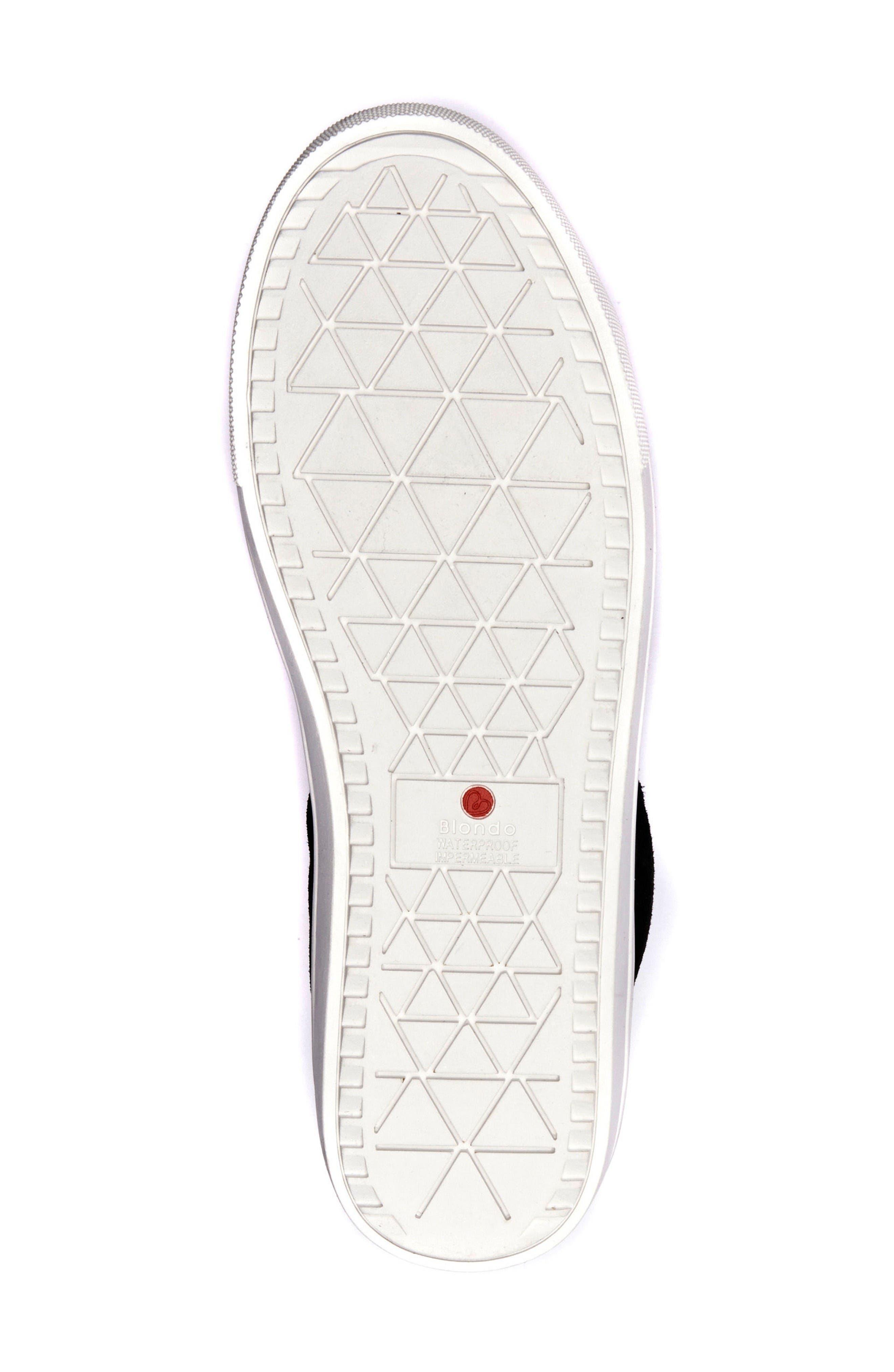 Jax Waterproof High Top Sneaker,                             Alternate thumbnail 4, color,                             Black Suede