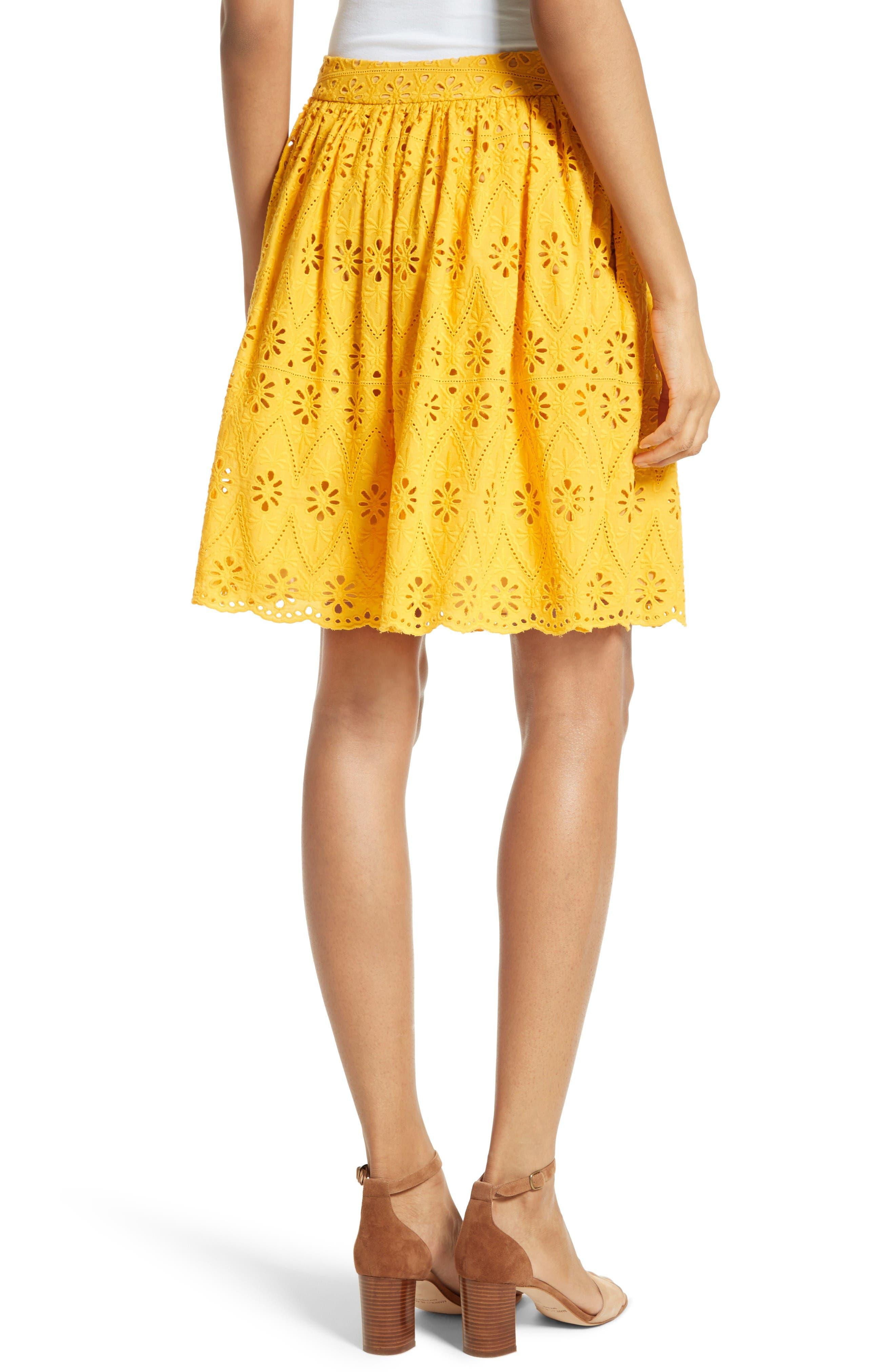 Alternate Image 2  - kate spade new york eyelet embroidered skirt