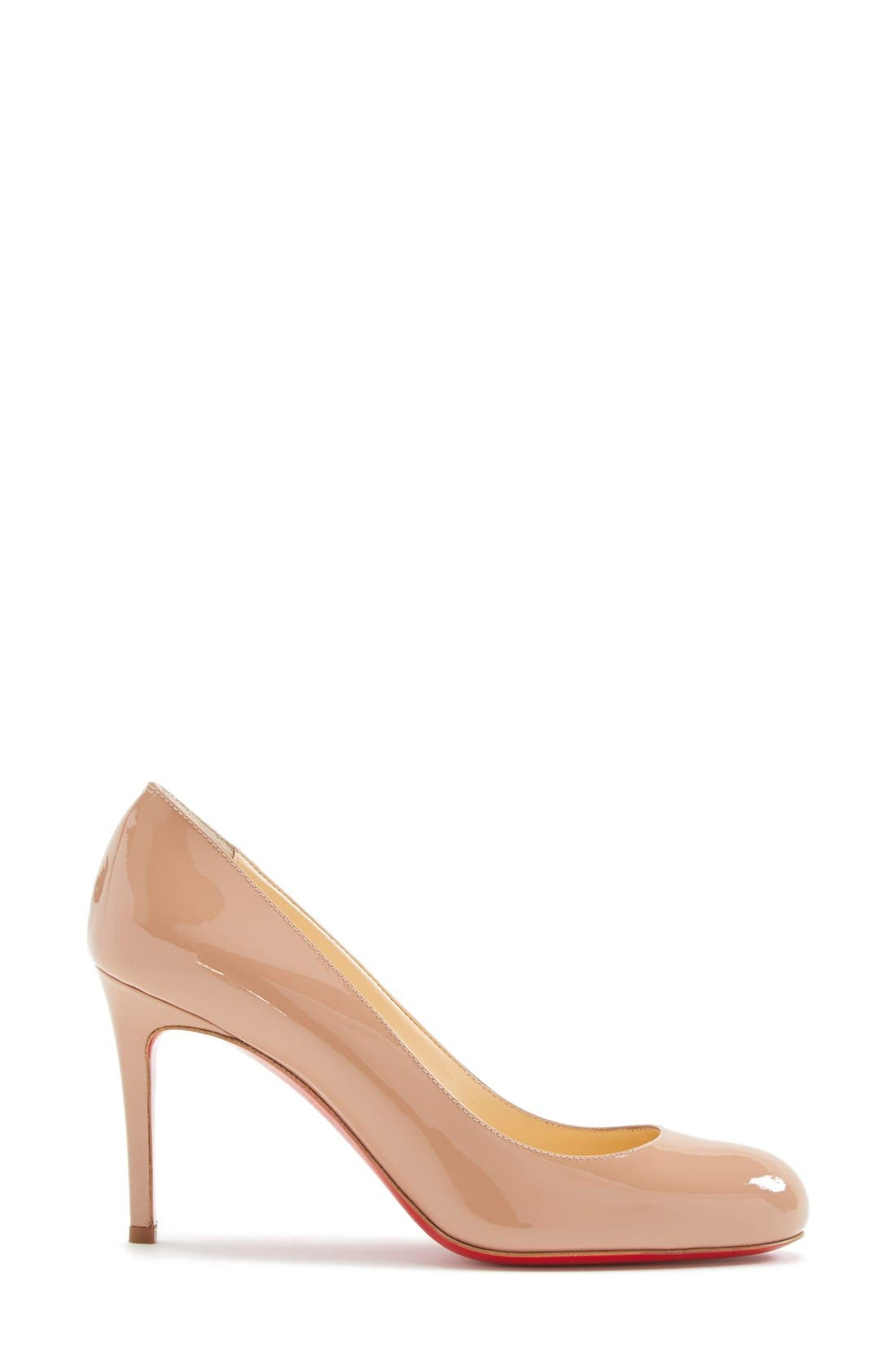 Simple Pump,                             Alternate thumbnail 4, color,                             Nude Patent