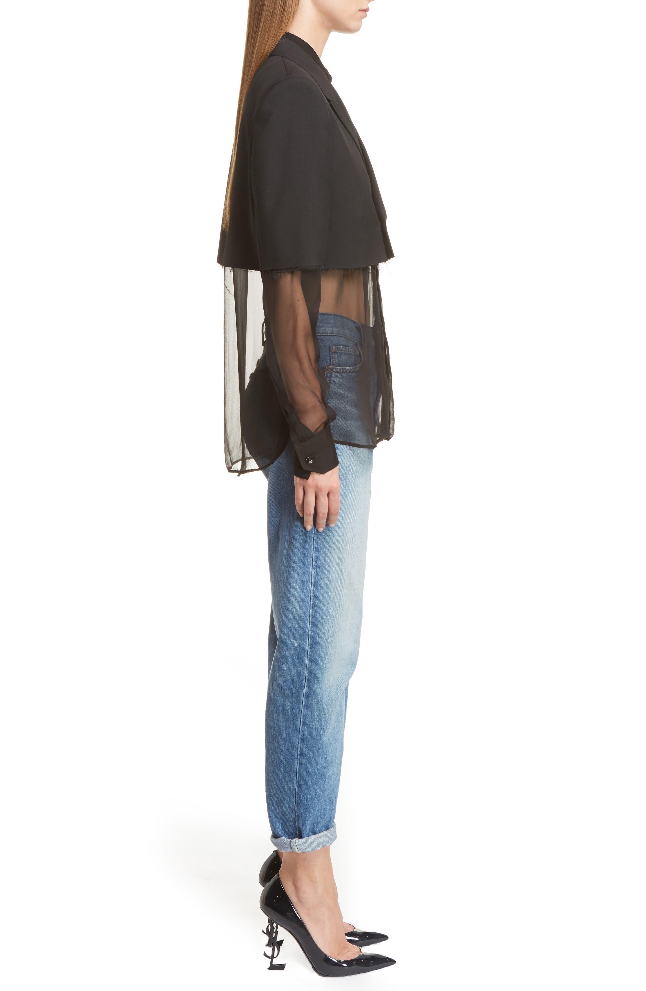 Alternate Image 4  - Saint Laurent Wool Crop Officer Jacket