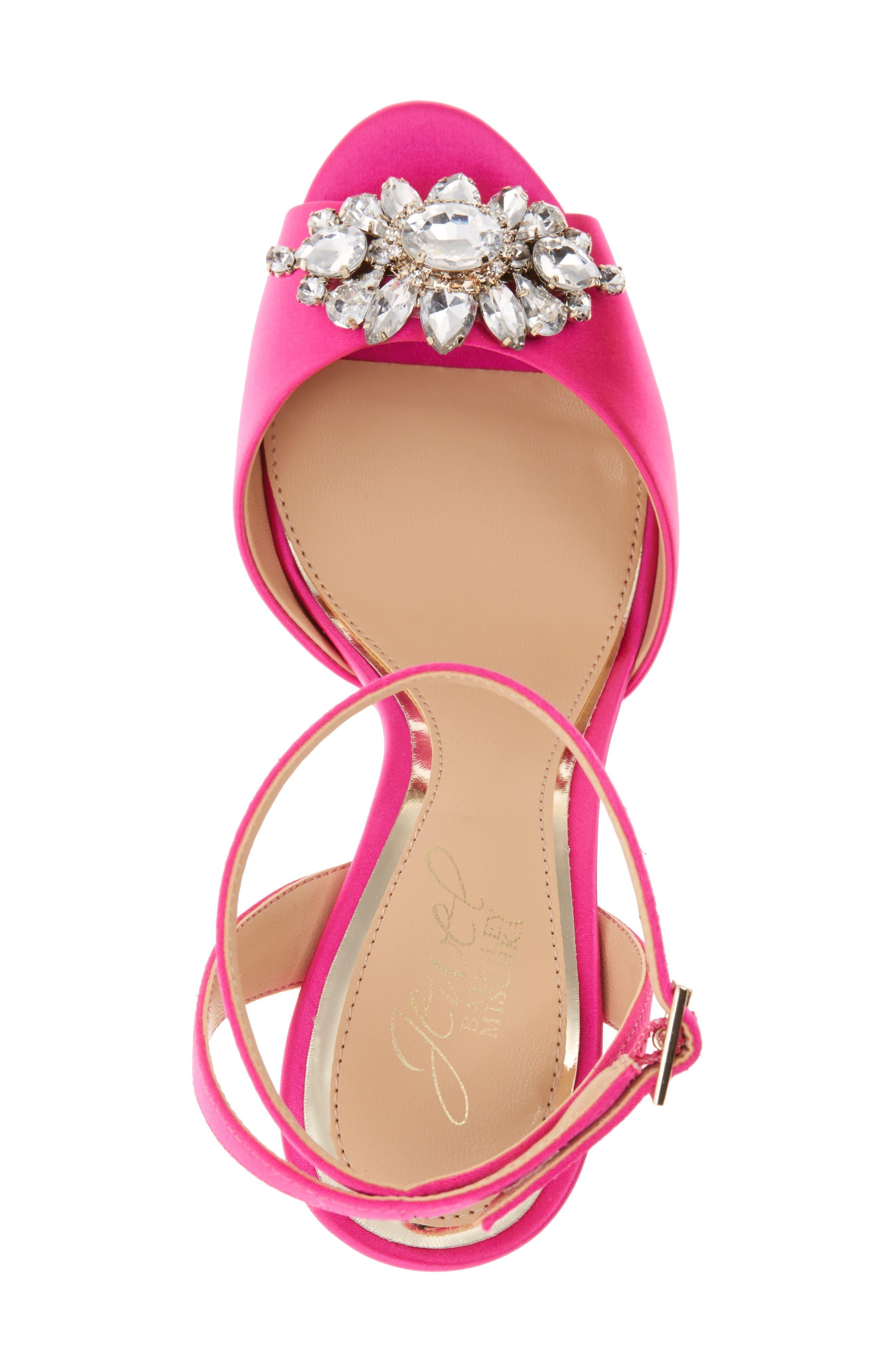 Alternate Image 3  - Jewel Badgley Mischka Hayden Embellished Ankle Strap Sandal (Women)