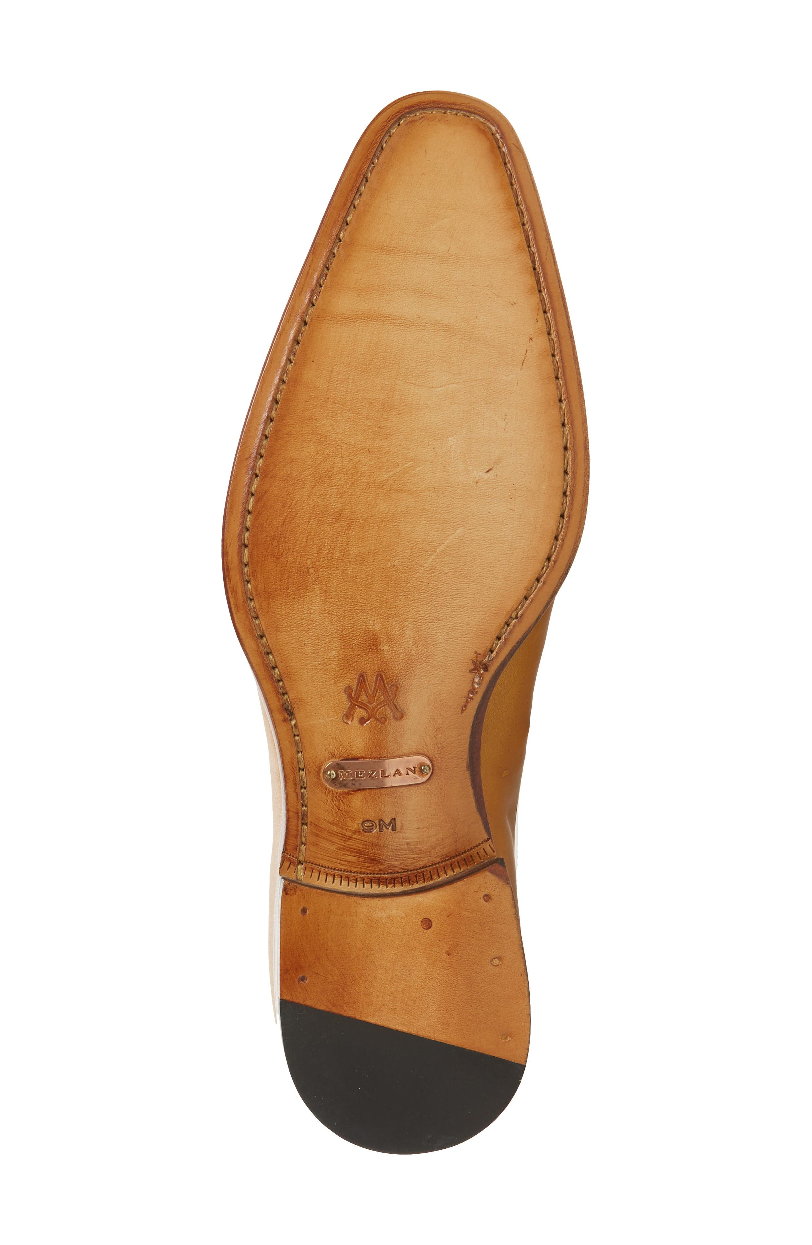 Kelvin Faux Wingtip,                             Alternate thumbnail 4, color,                             Mustard/ Tan Leather
