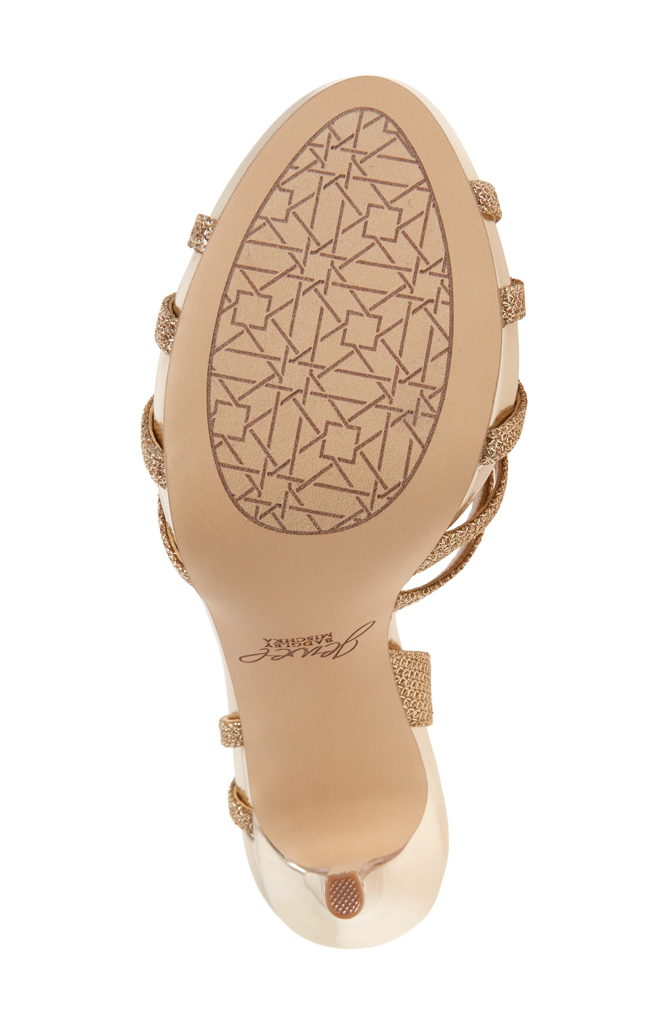 Humble Strappy Sandal,                             Alternate thumbnail 4, color,                             Gold Glitter Fabric