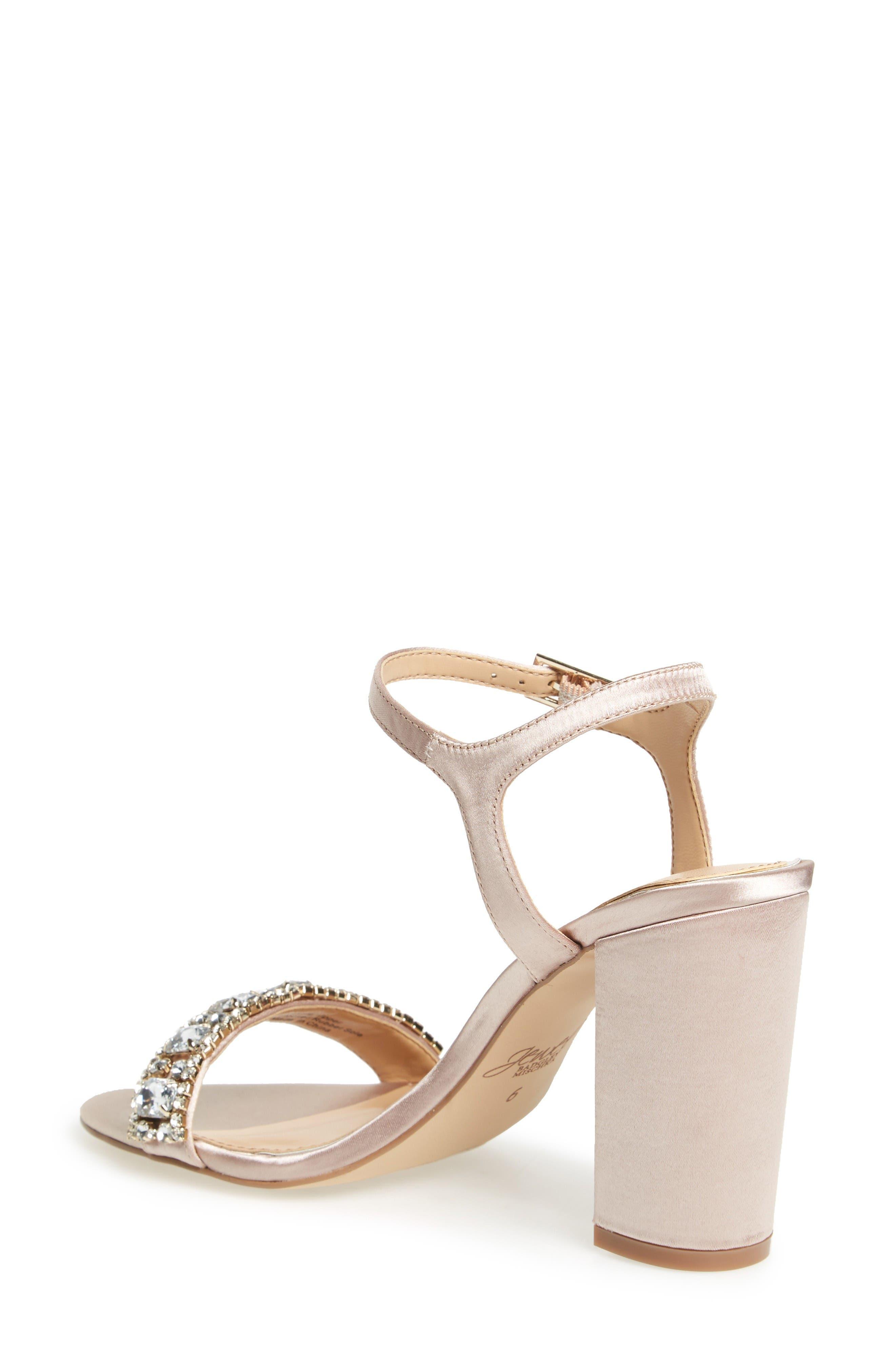 Alternate Image 4  - Jewel Badgley Mischka Hendricks Embellished Block Heel Sandal (Women)