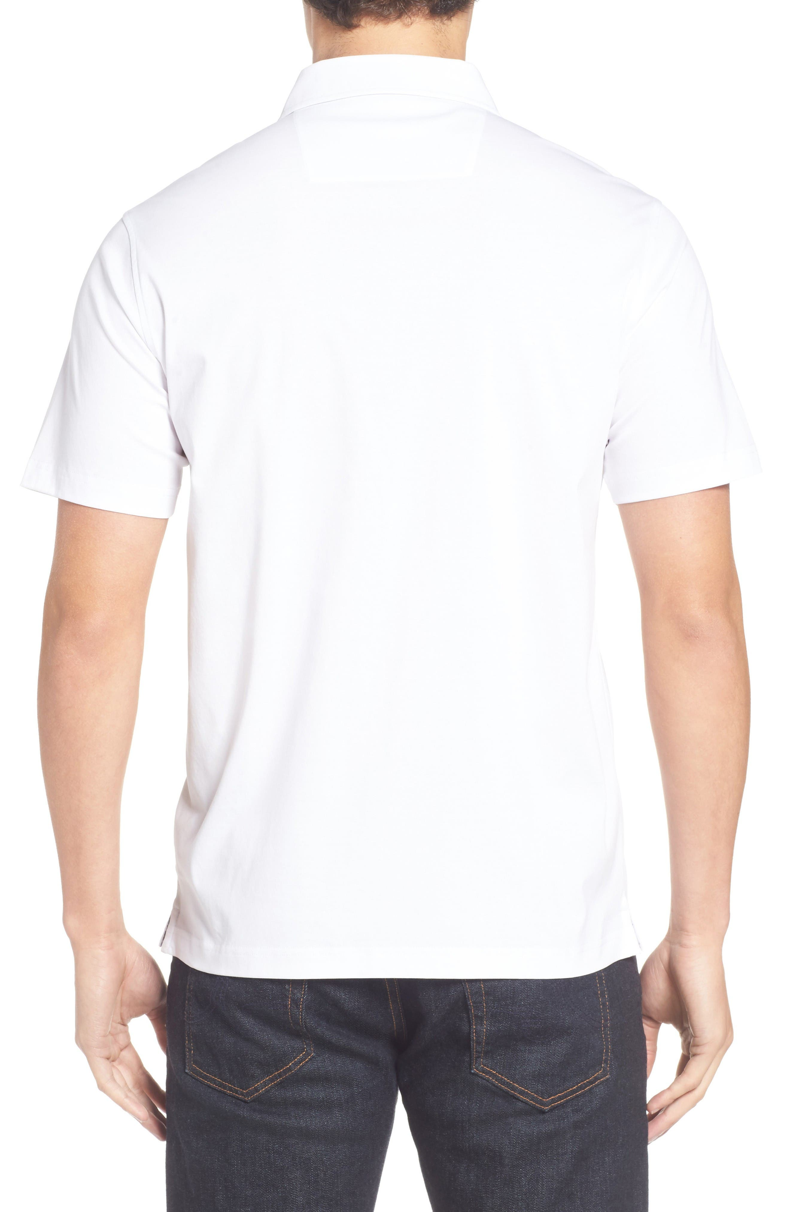 Jersey Polo,                             Alternate thumbnail 2, color,                             White