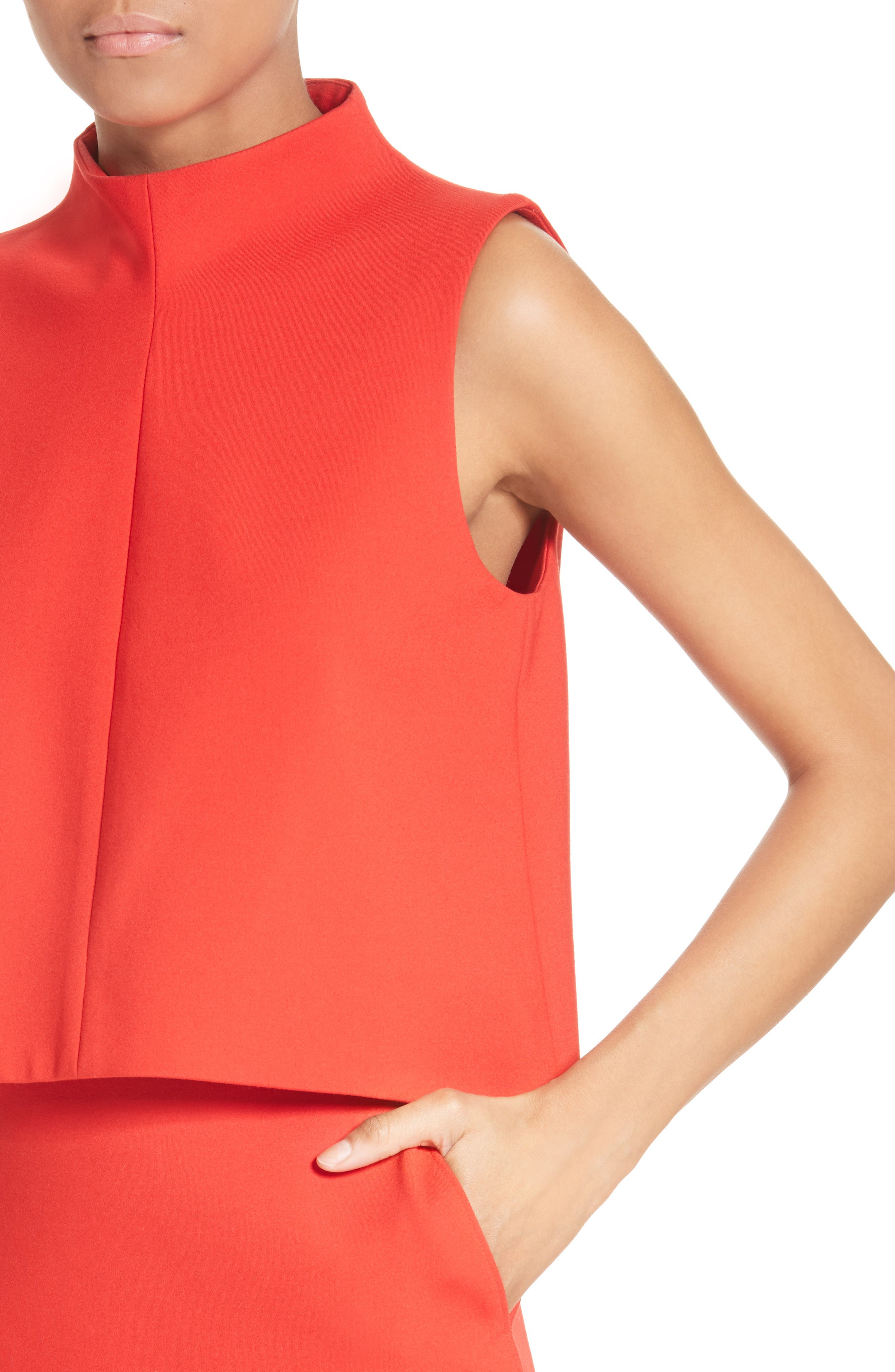 Funnel Neck Top,                             Alternate thumbnail 5, color,                             Elia Red