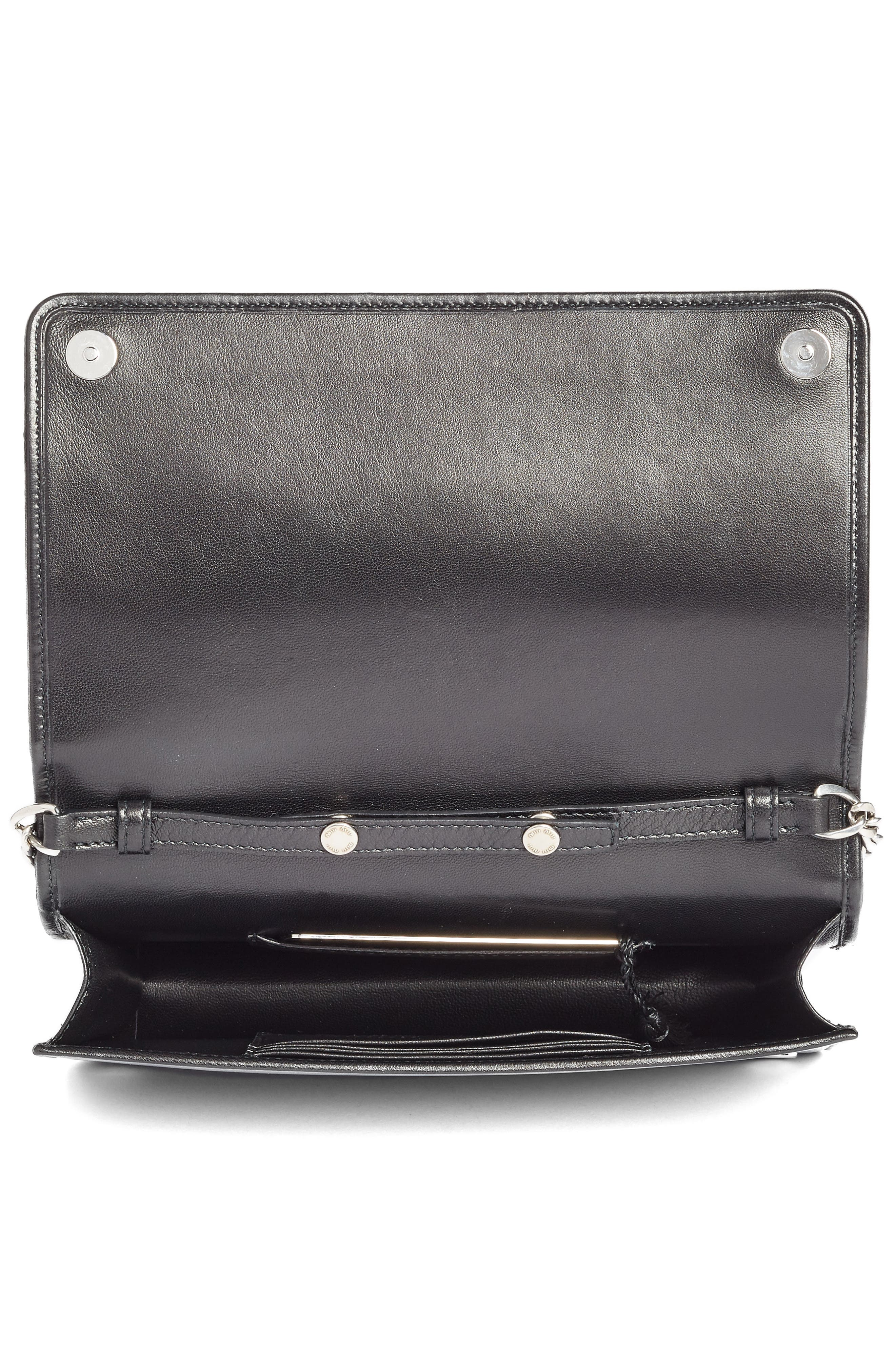 Alternate Image 3  - Miu Miu Delice Matelassé Leather Wallet on a Chain