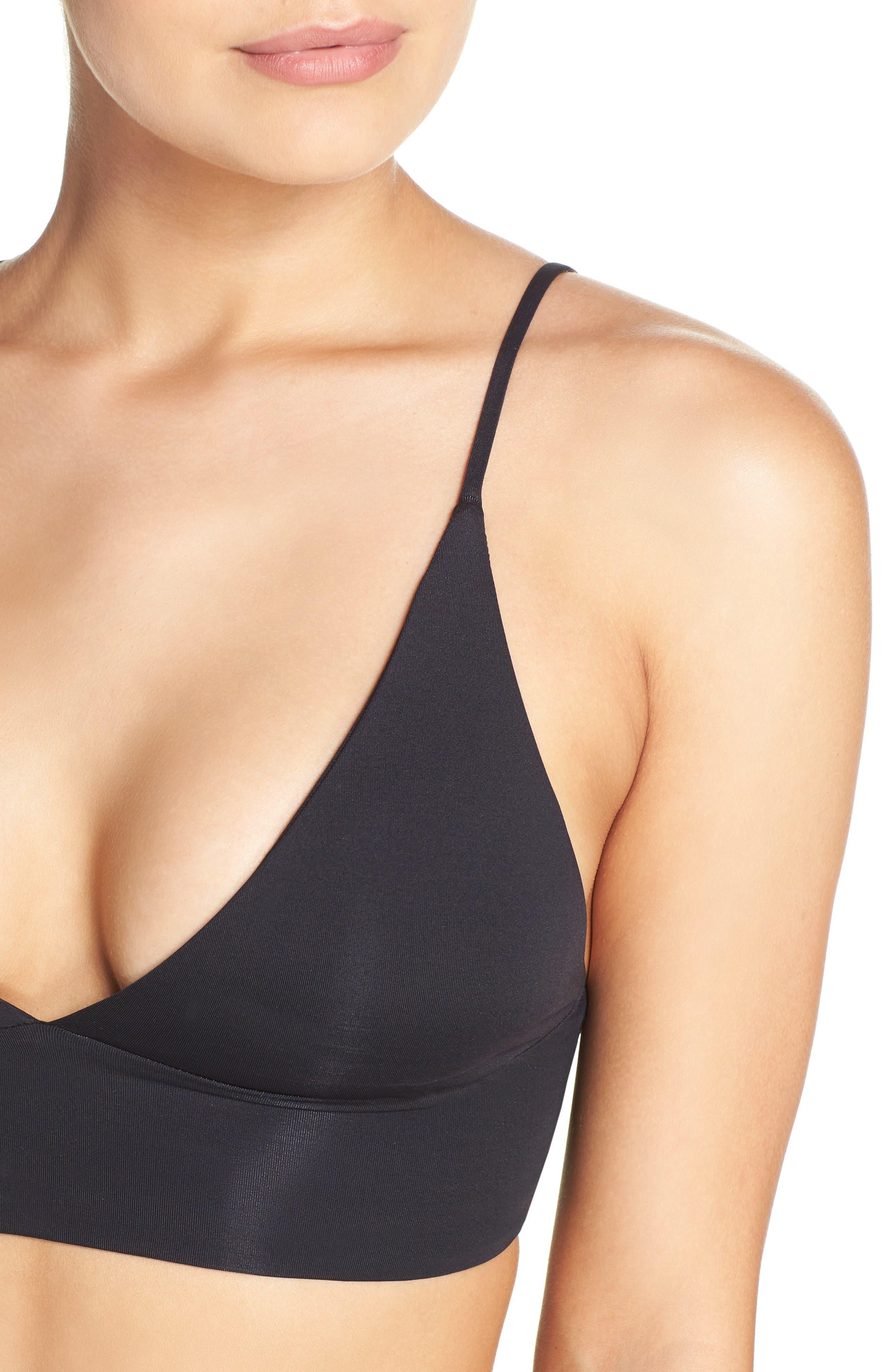 Olivia Bikini Top,                             Alternate thumbnail 4, color,                             Black