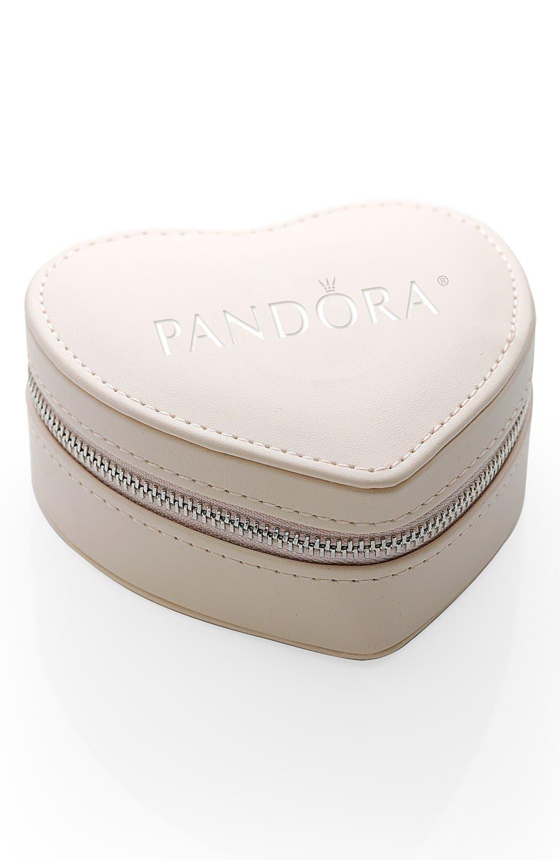 Alternate Image 2  - PANDORA 'From the Heart' Boxed Charm Bracelet Set