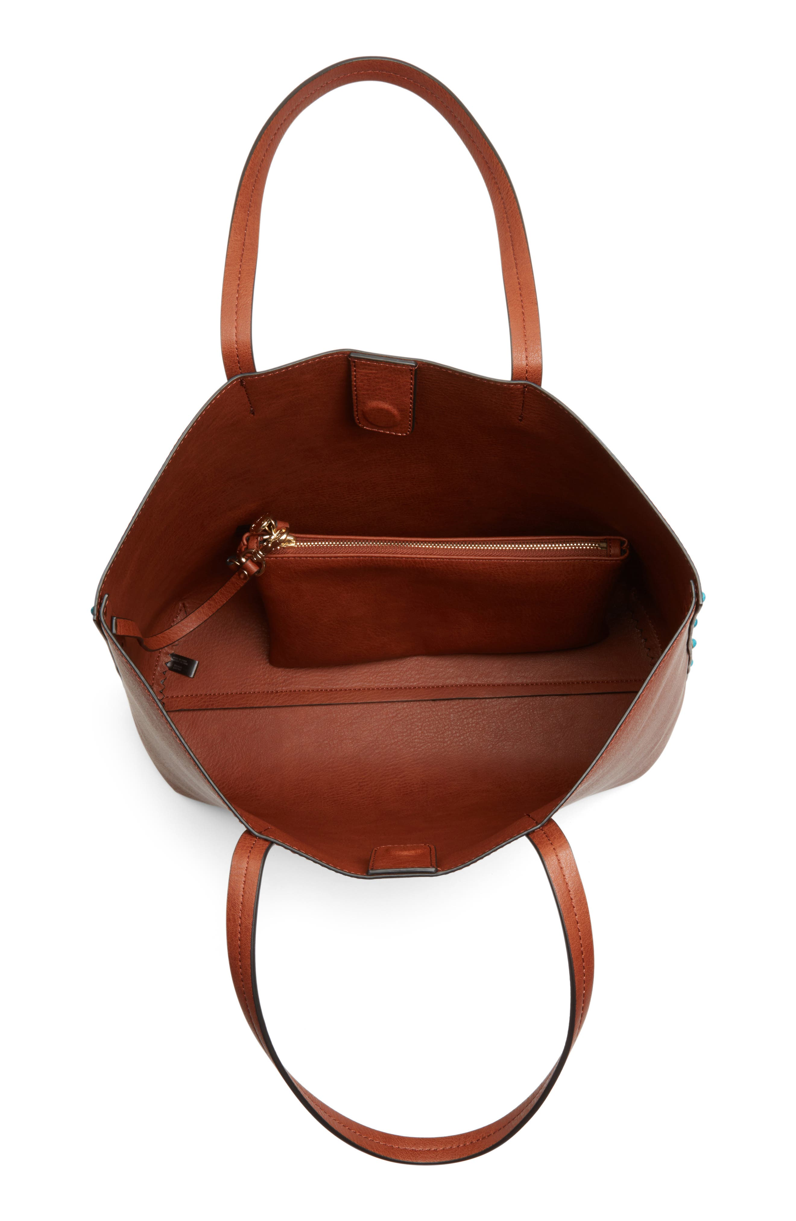 Alternate Image 4  - Chelsea28 Olivia Faux Leather Tote