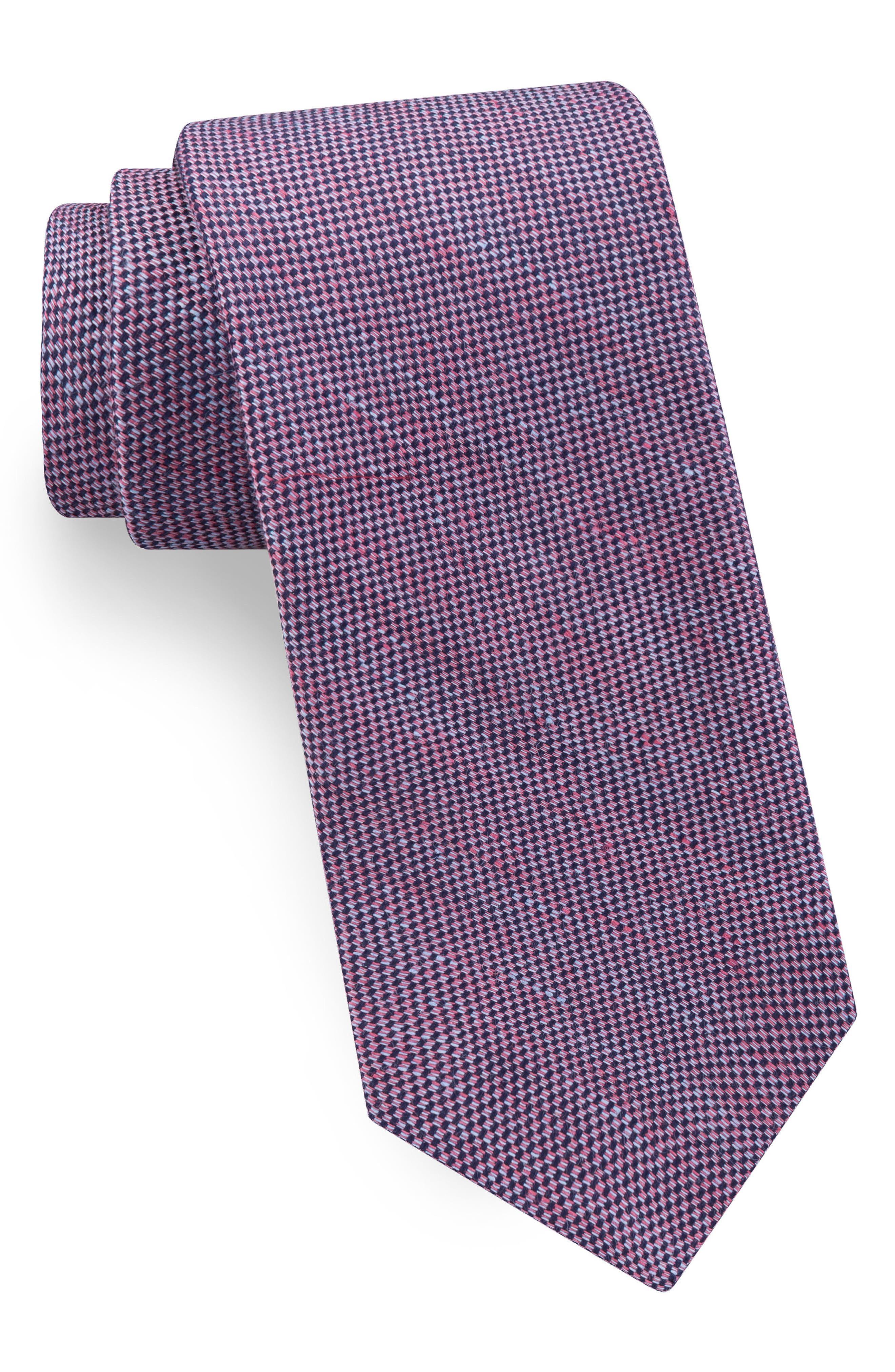 Textured Linen & Silk Tie,                             Main thumbnail 1, color,                             Mauve