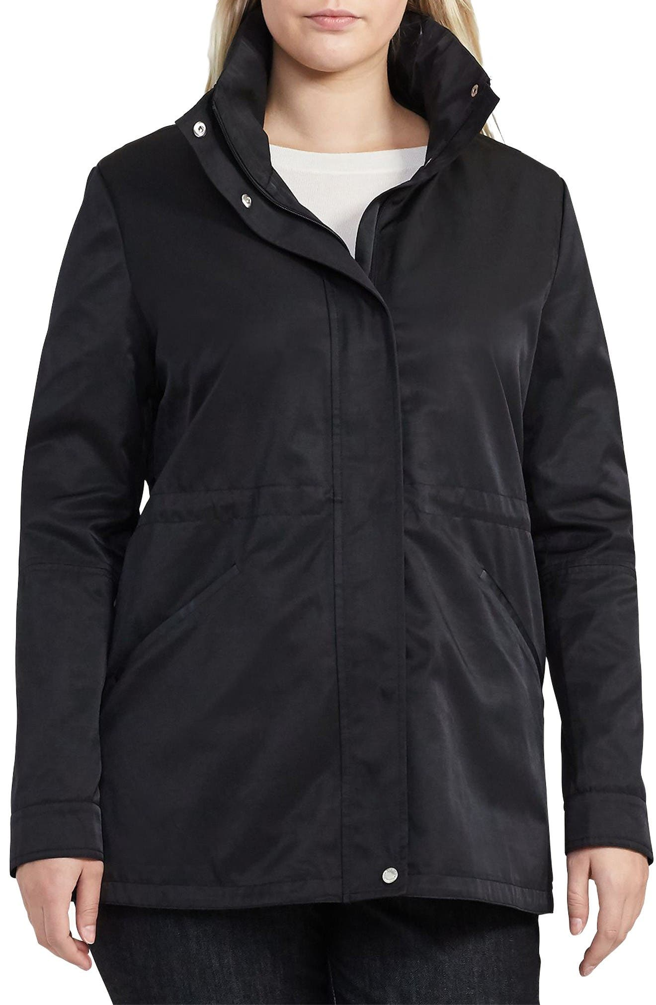 Alternate Image 1 Selected - Lauren Ralph Lauren Hooded Anorak (Plus Size)