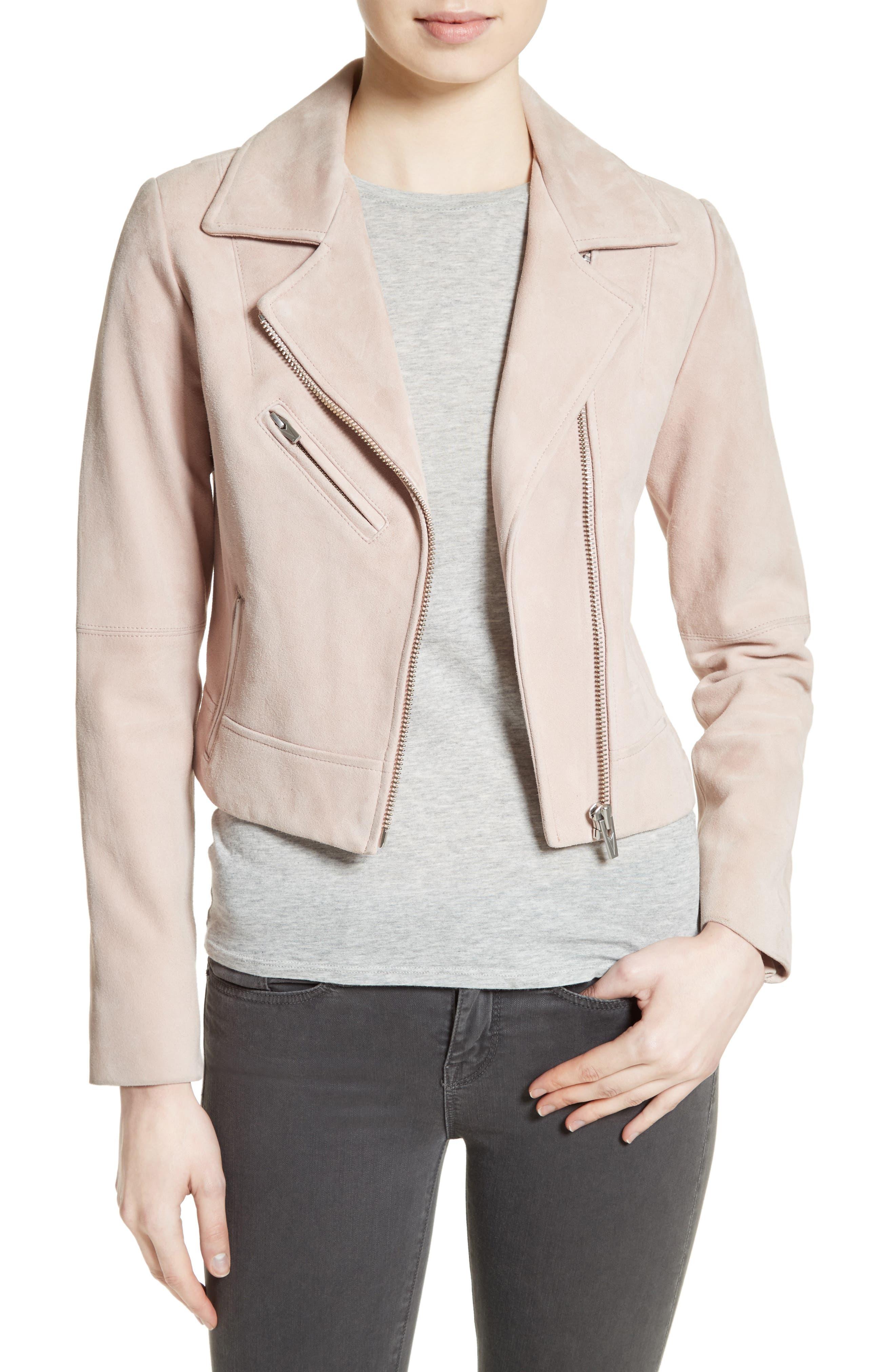 Main Image - Veda Nova Suede Moto Jacket