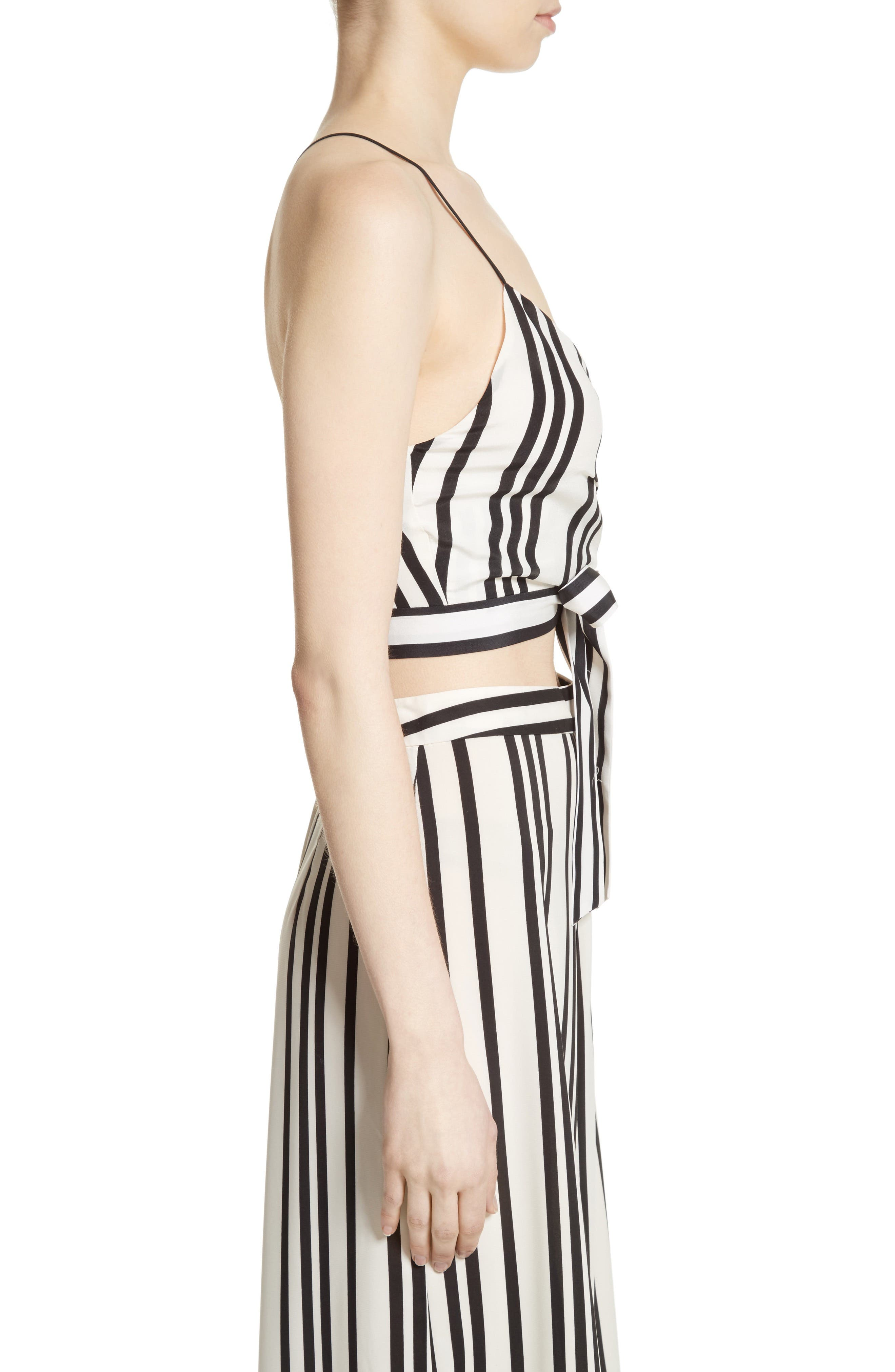 Alternate Image 4  - Alice + Olivia Rayna Tie Front Crossover Crop Tank