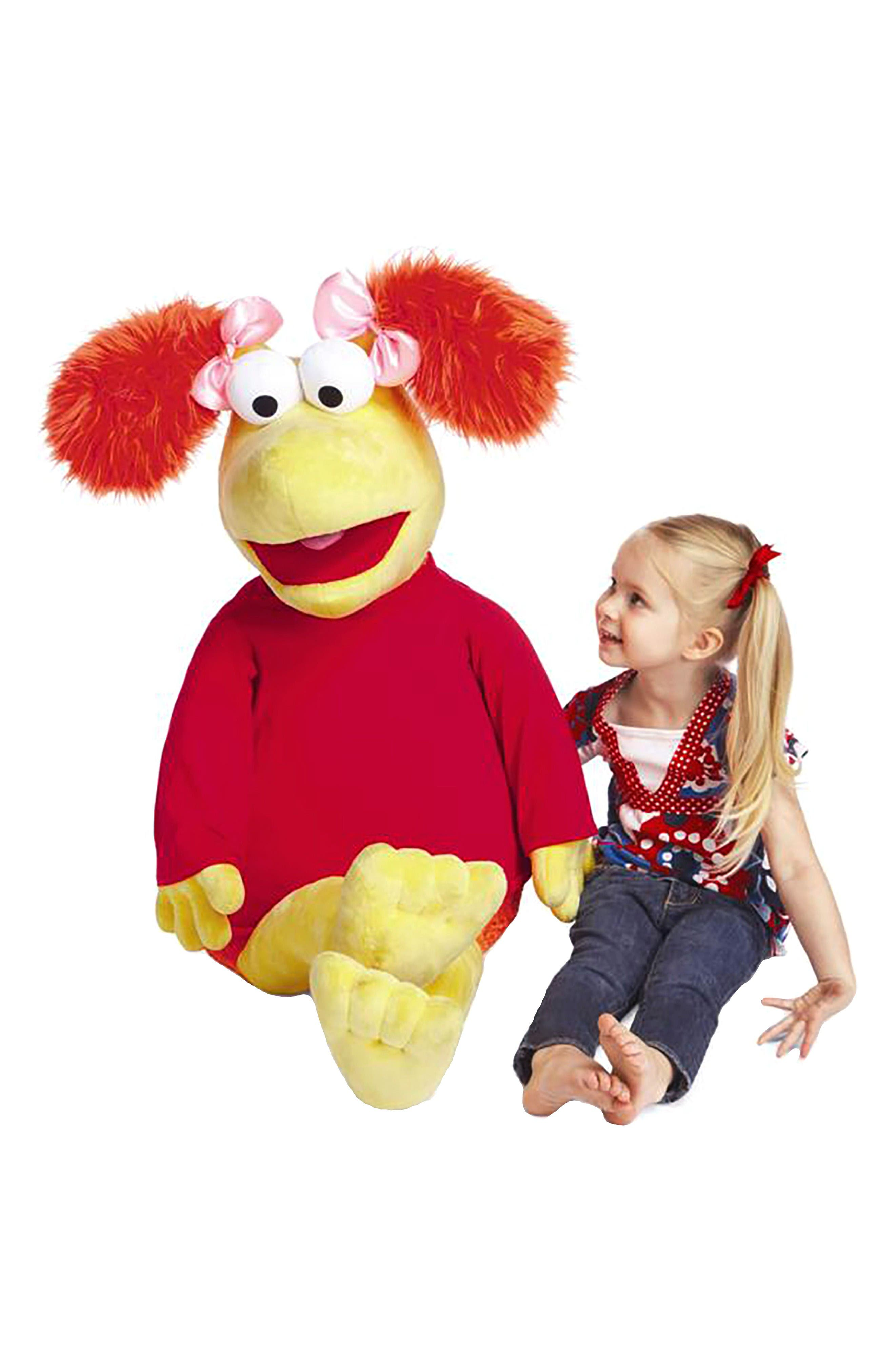 Fraggle Rock Jumbo Red Stuffed Animal,                             Alternate thumbnail 2, color,                             Red