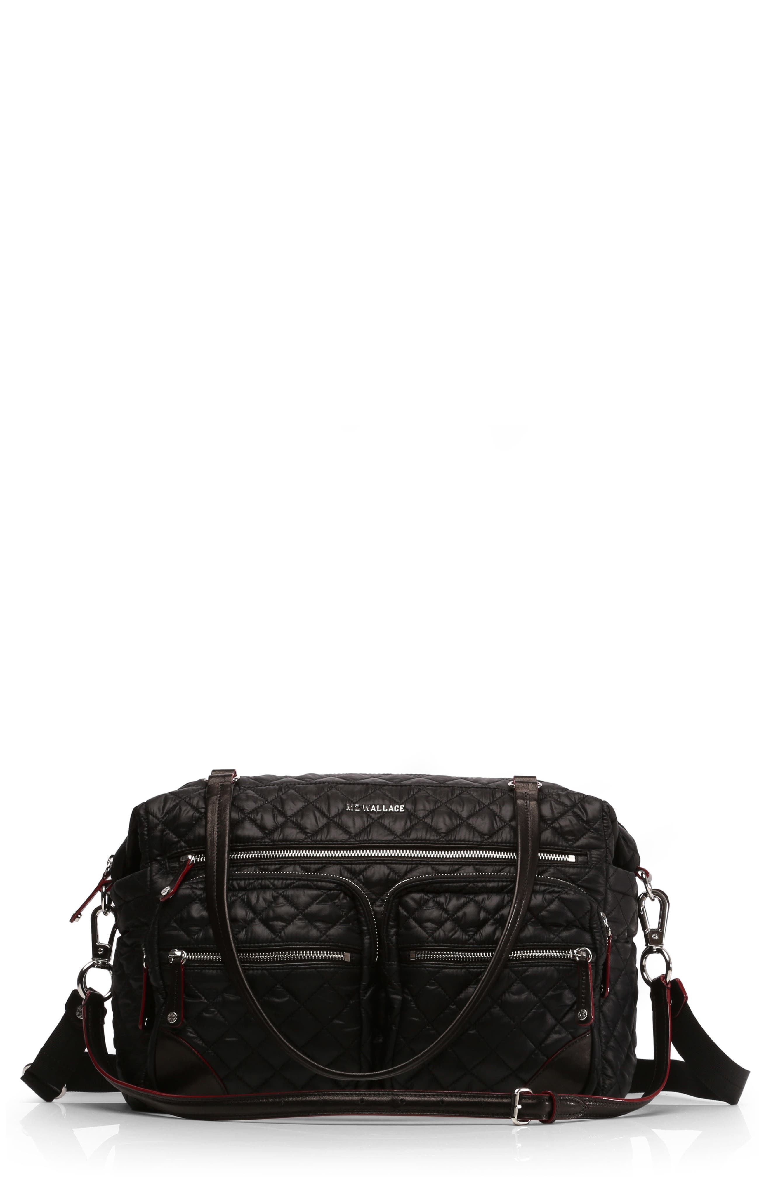 Main Image - MZ Wallace Crosby Quilted Traveler Oxford Nylon Diaper Bag