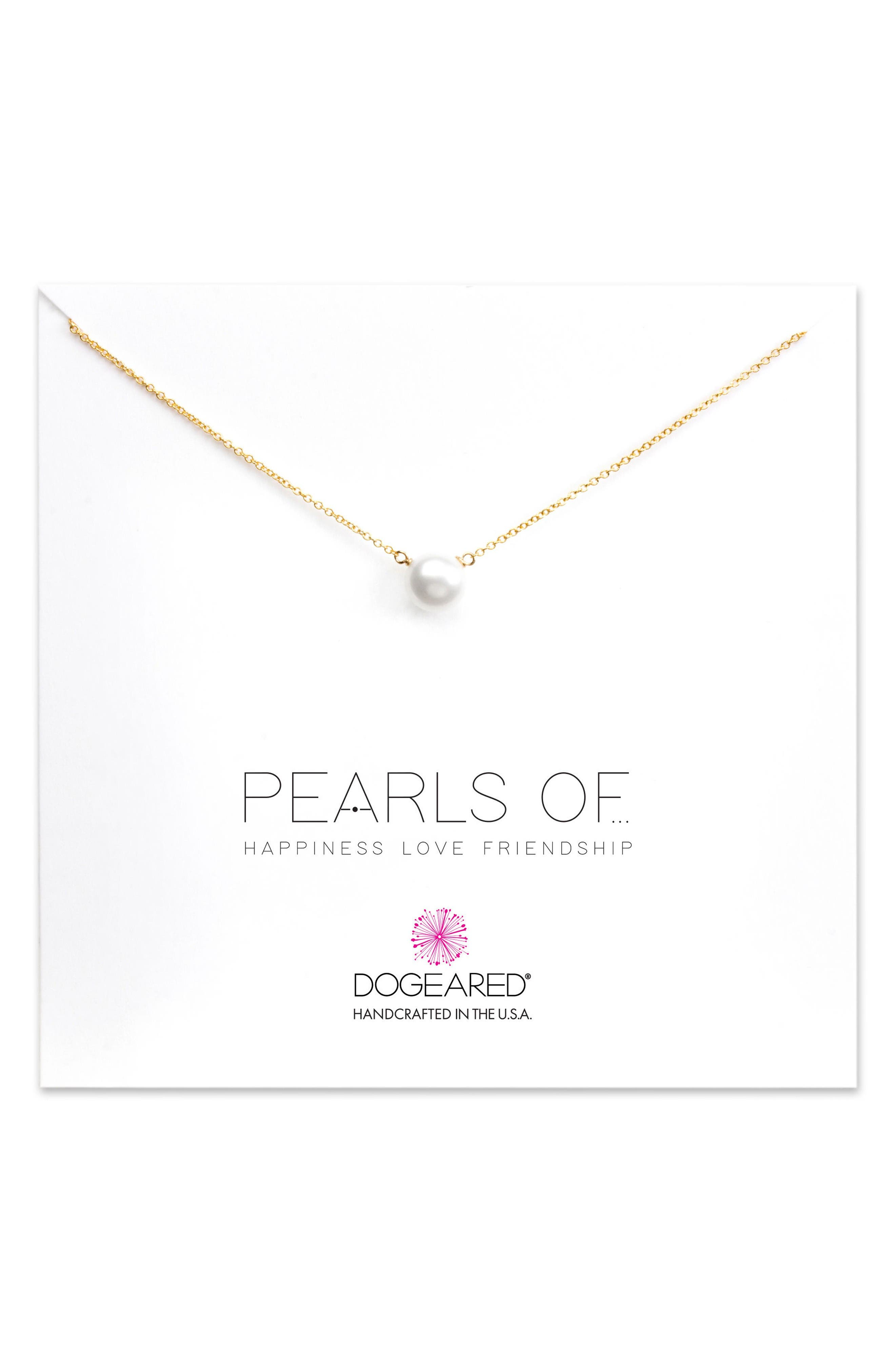 Pearls of... Pendant Necklace,                         Main,                         color, Gold