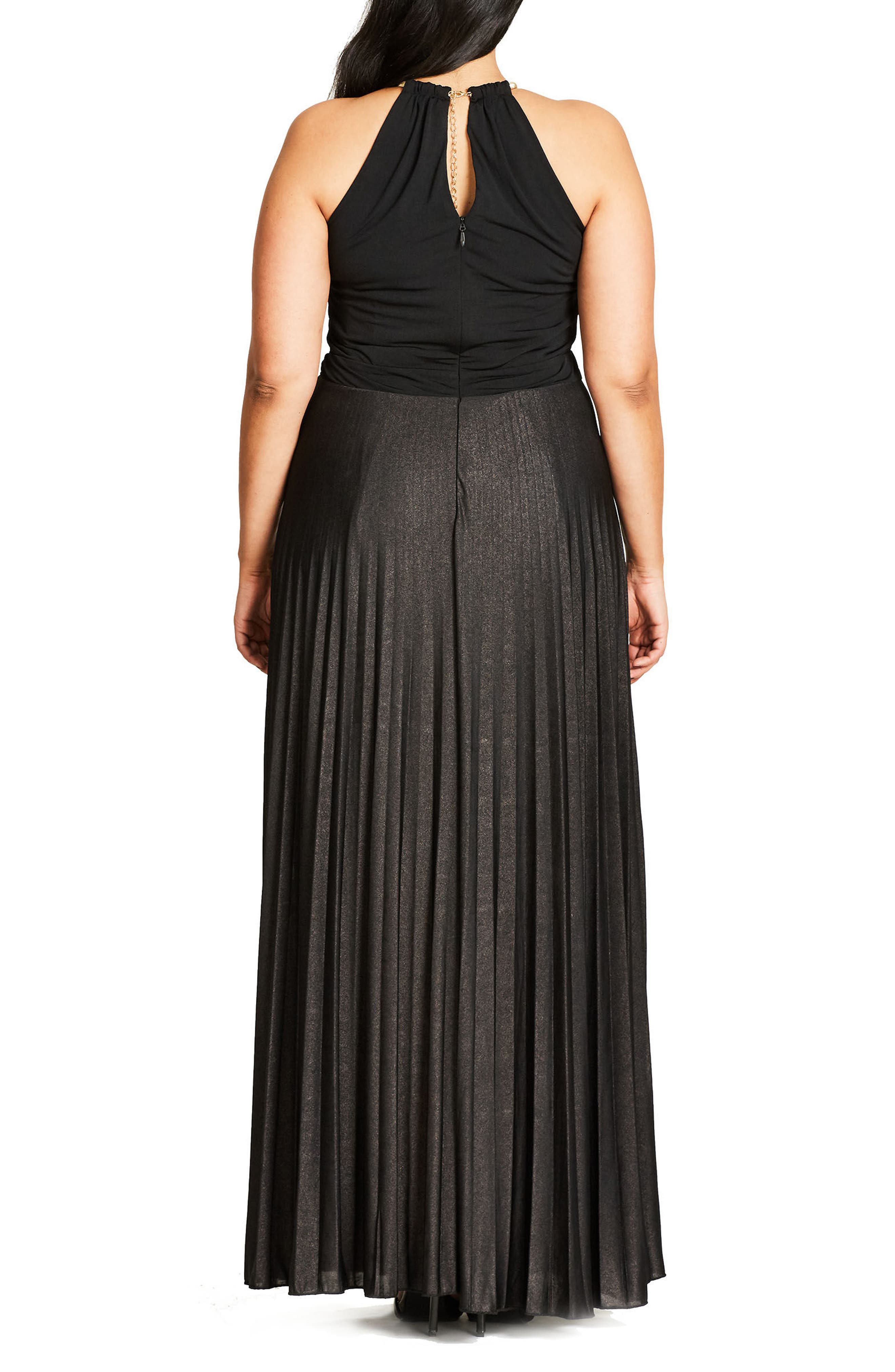 Alternate Image 2  - City Chic Colorblock Maxi Dress (Plus Size)