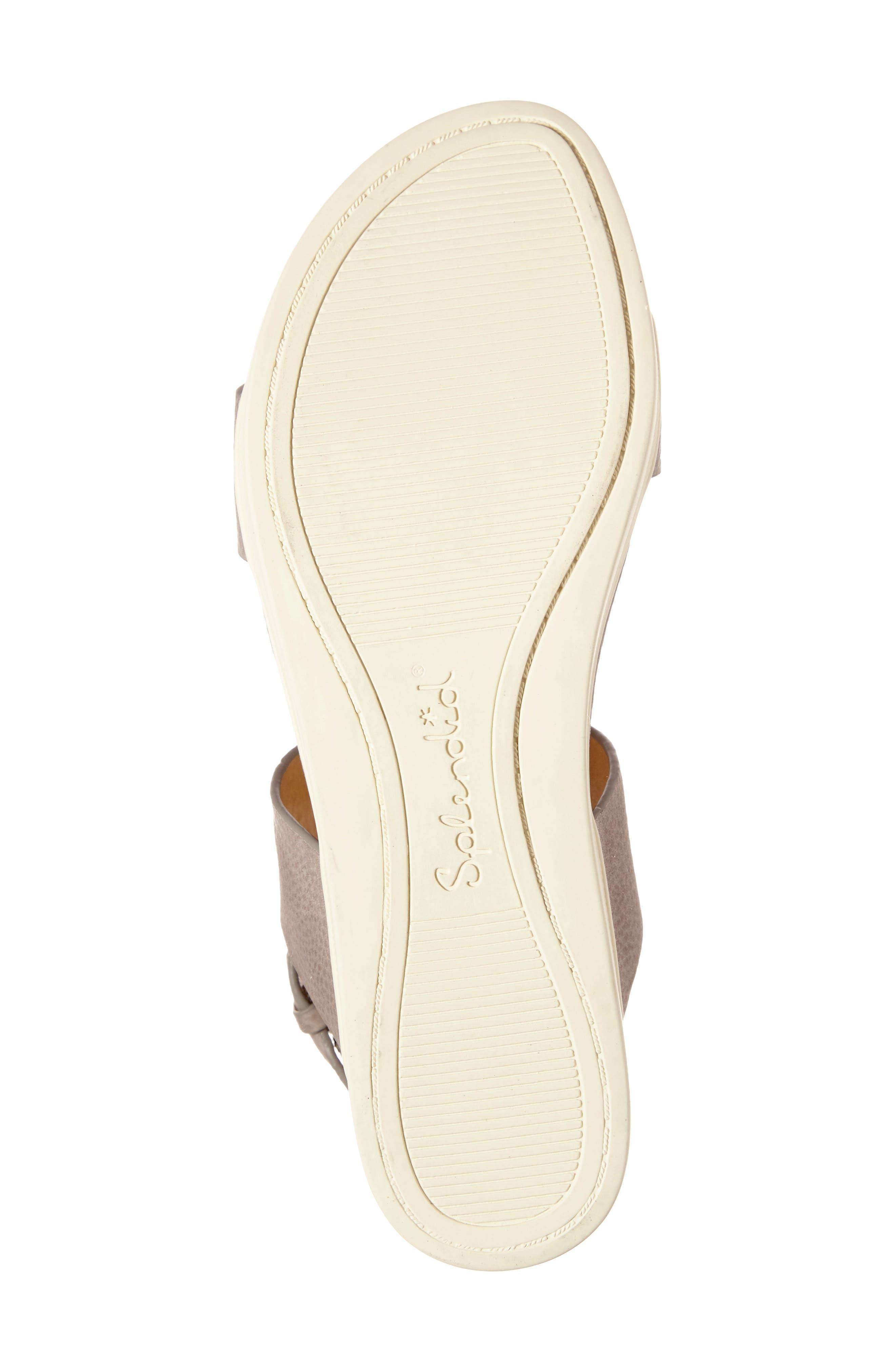Julie Platform Sandal,                             Alternate thumbnail 4, color,                             Light Grey Leather