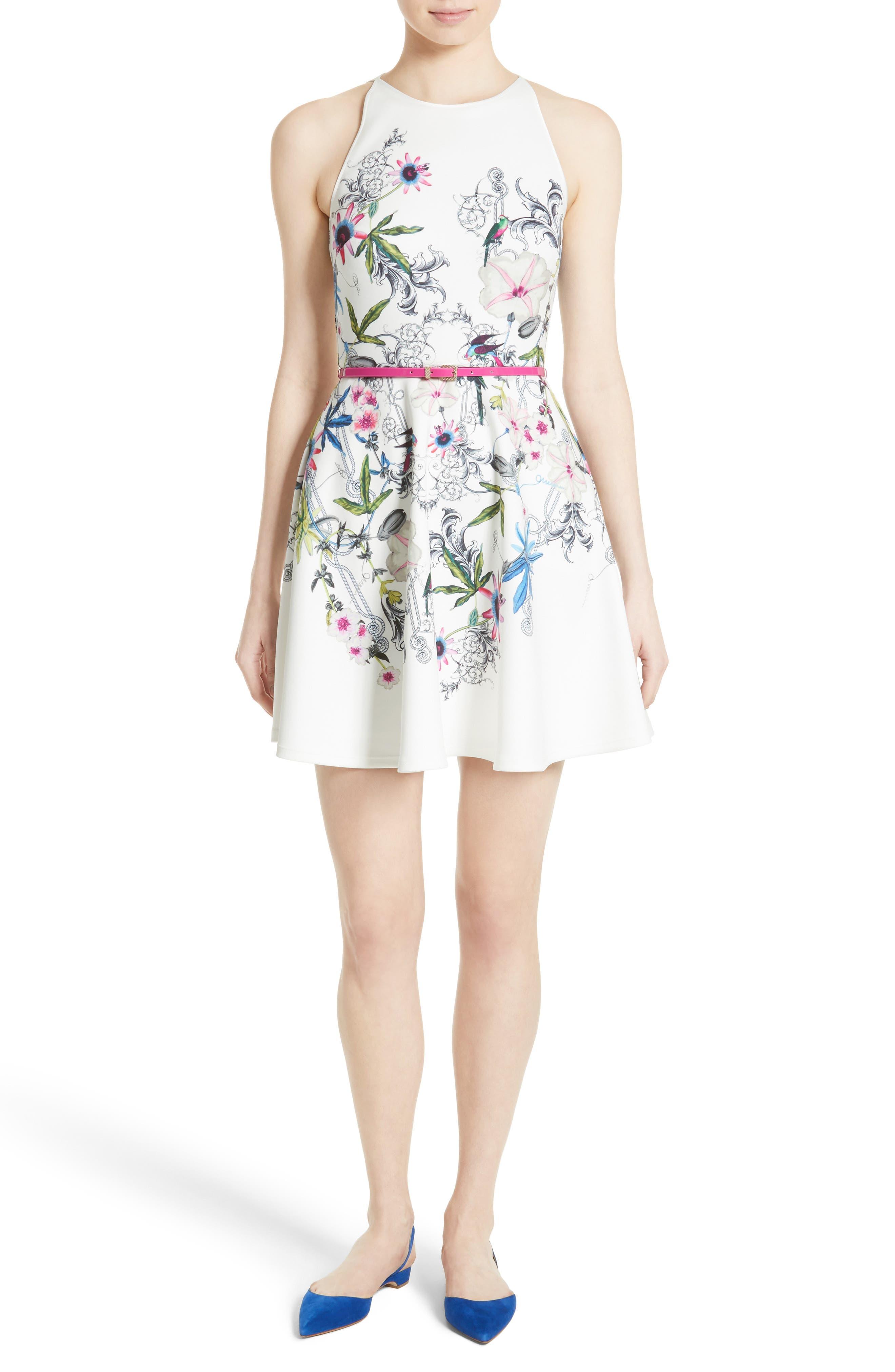 Main Image - Ted Baker London Samm Floral Fit & Flare Dress