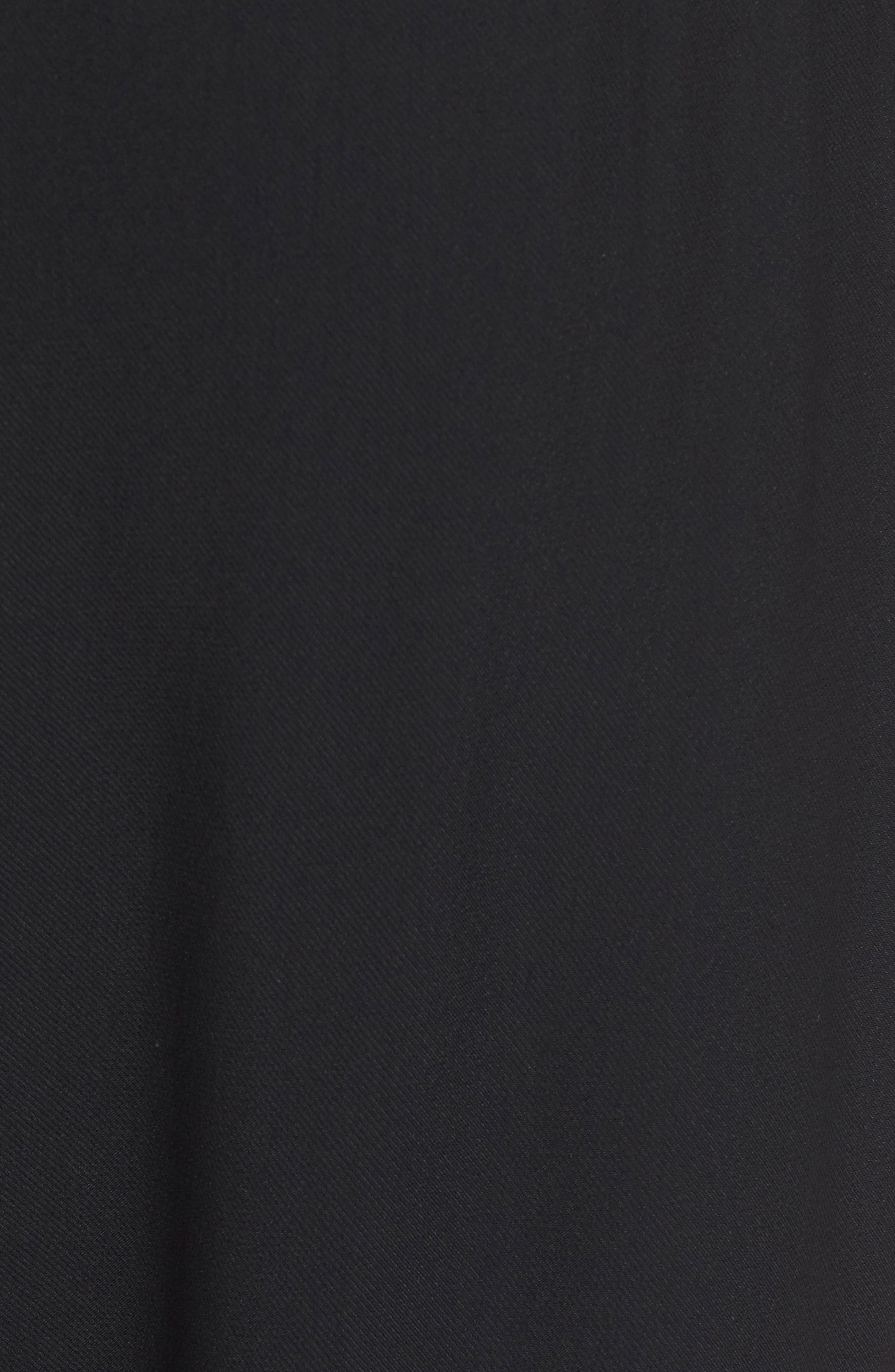 Gabi Drape Trousers,                             Alternate thumbnail 3, color,                             Black