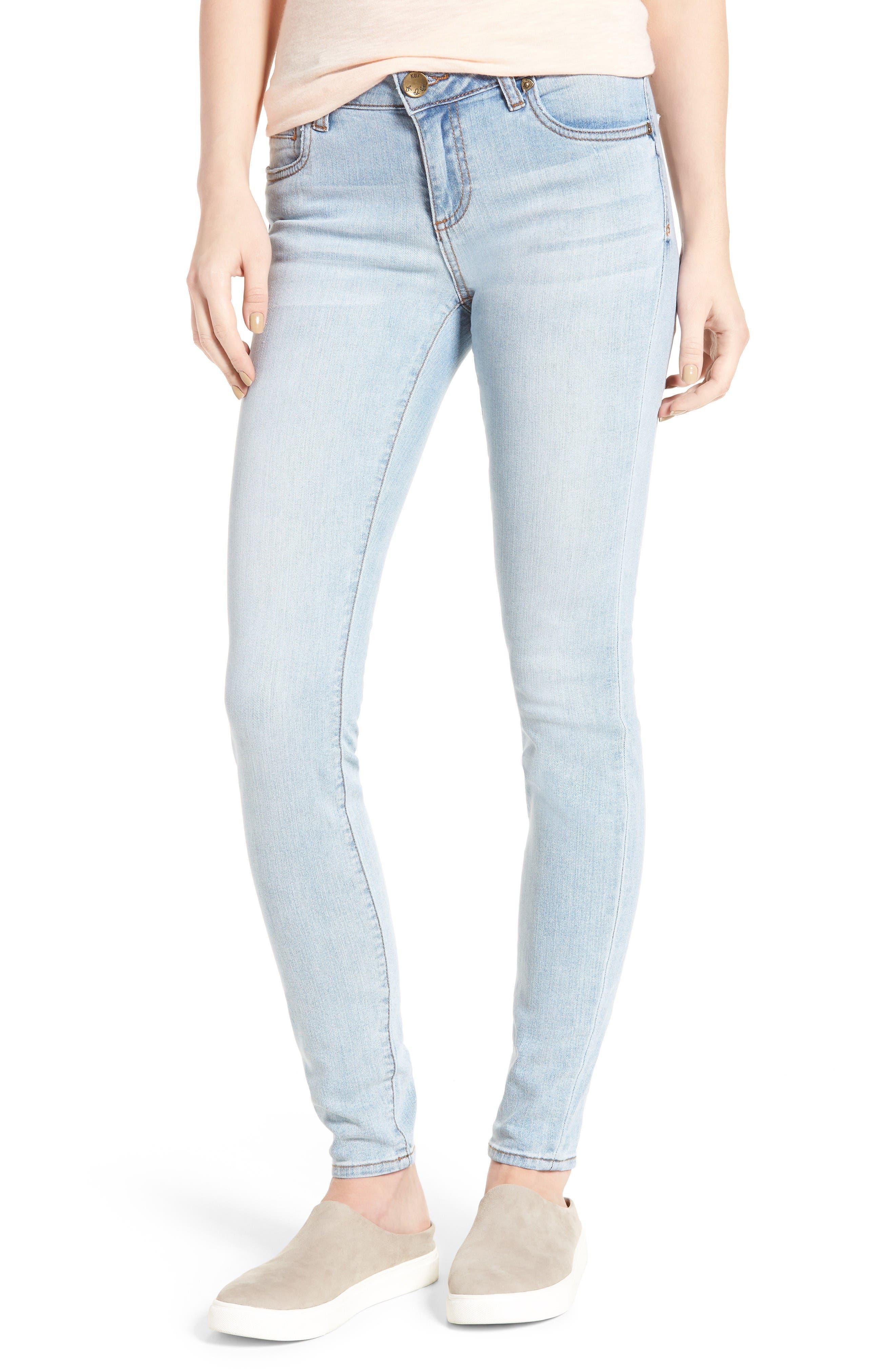 Main Image - KUT from the Kloth Mia Toothpick Skinny Jeans (Expectation)