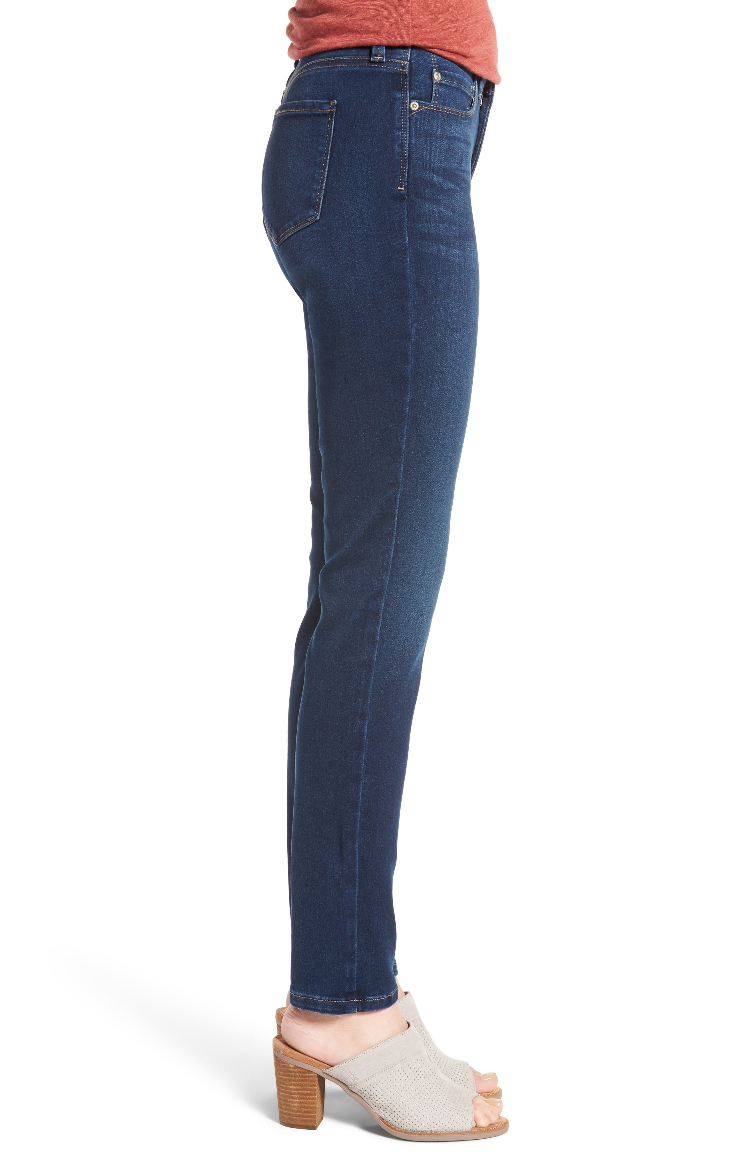 Alina Stretch Skinny Jeans,                             Alternate thumbnail 3, color,                             Luxembourg