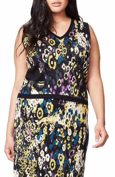 RACHEL Rachel Roy V-Neck Jacquard Knit Top (Plus Size) Best Price